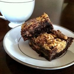 Swirled Peanut Butter Cup Brownies lovestohost