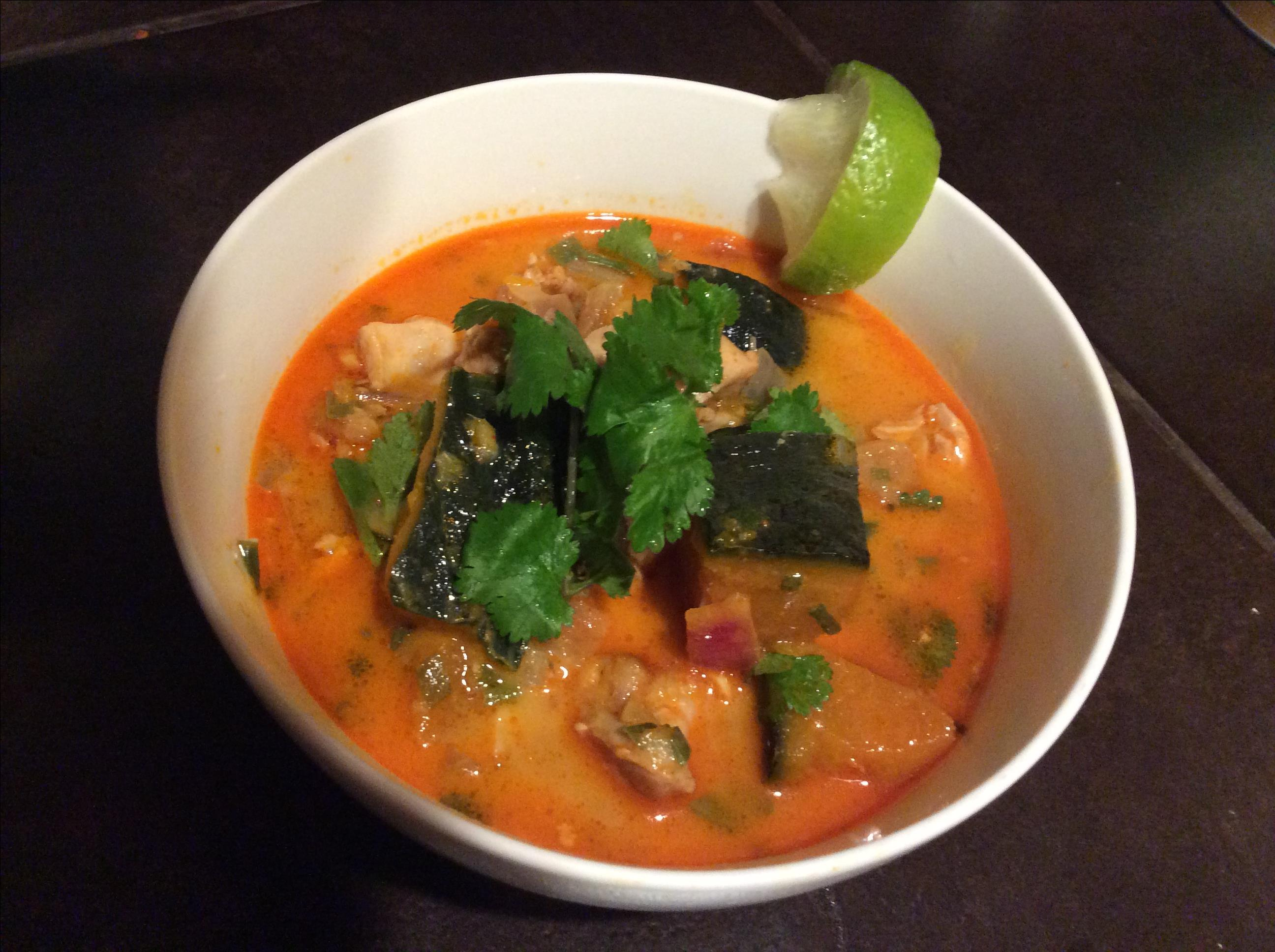 Red Curry Chicken and Pumpkin Soup ezoomy