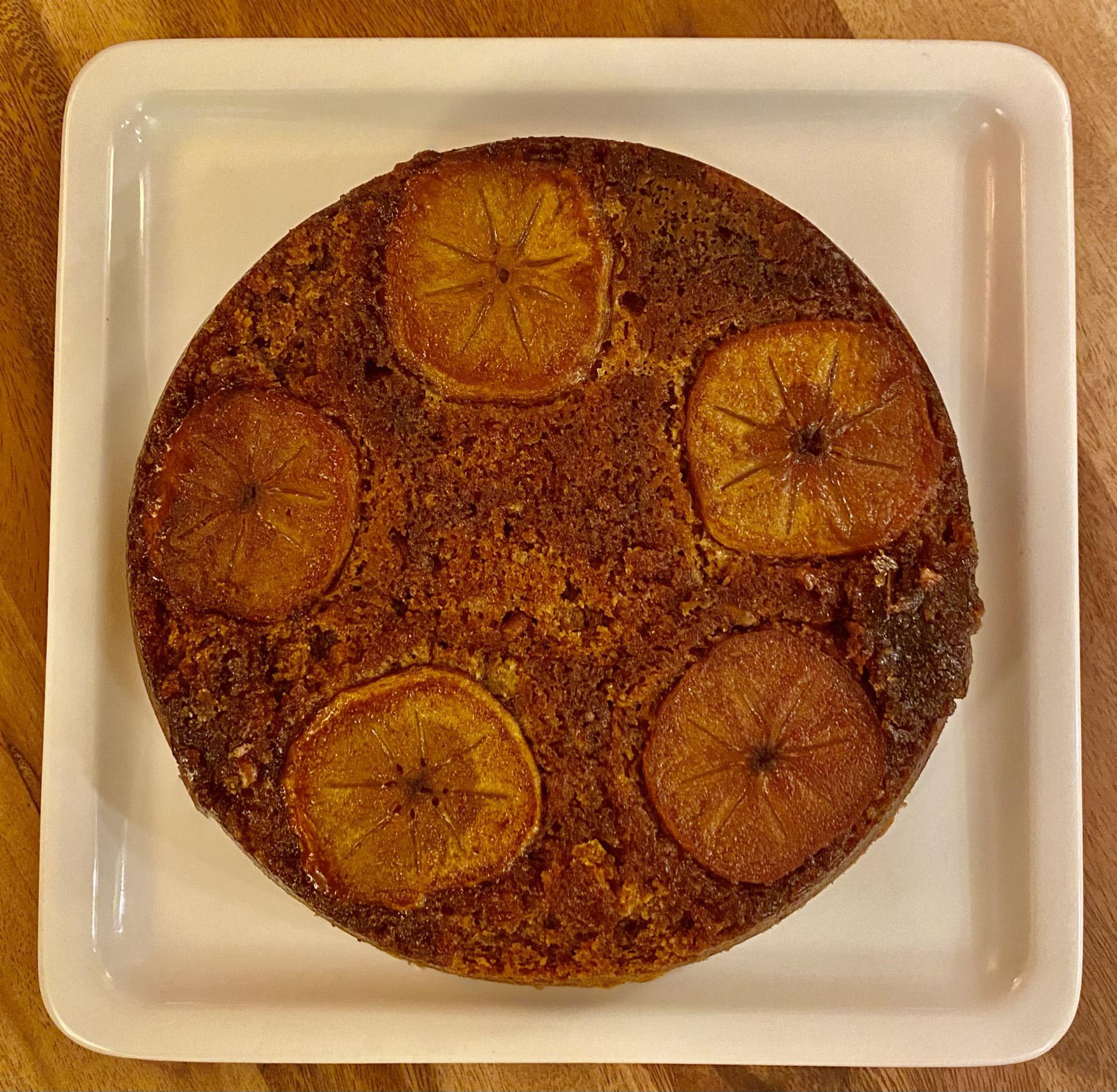 Persimmon Upside Down Cake Edward Salm