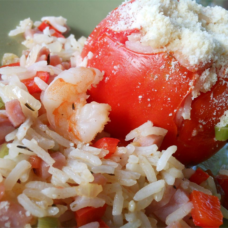 Jambalaya-Stuffed Tomatoes