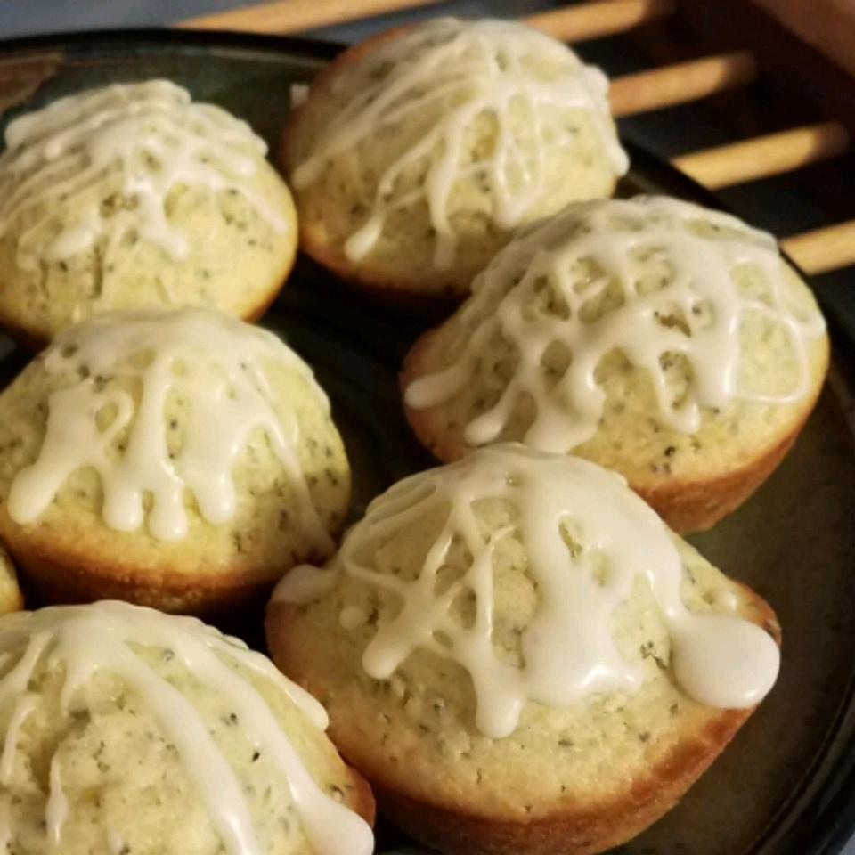 Lemon Poppyseed Muffins with Lemon Glaze Shae