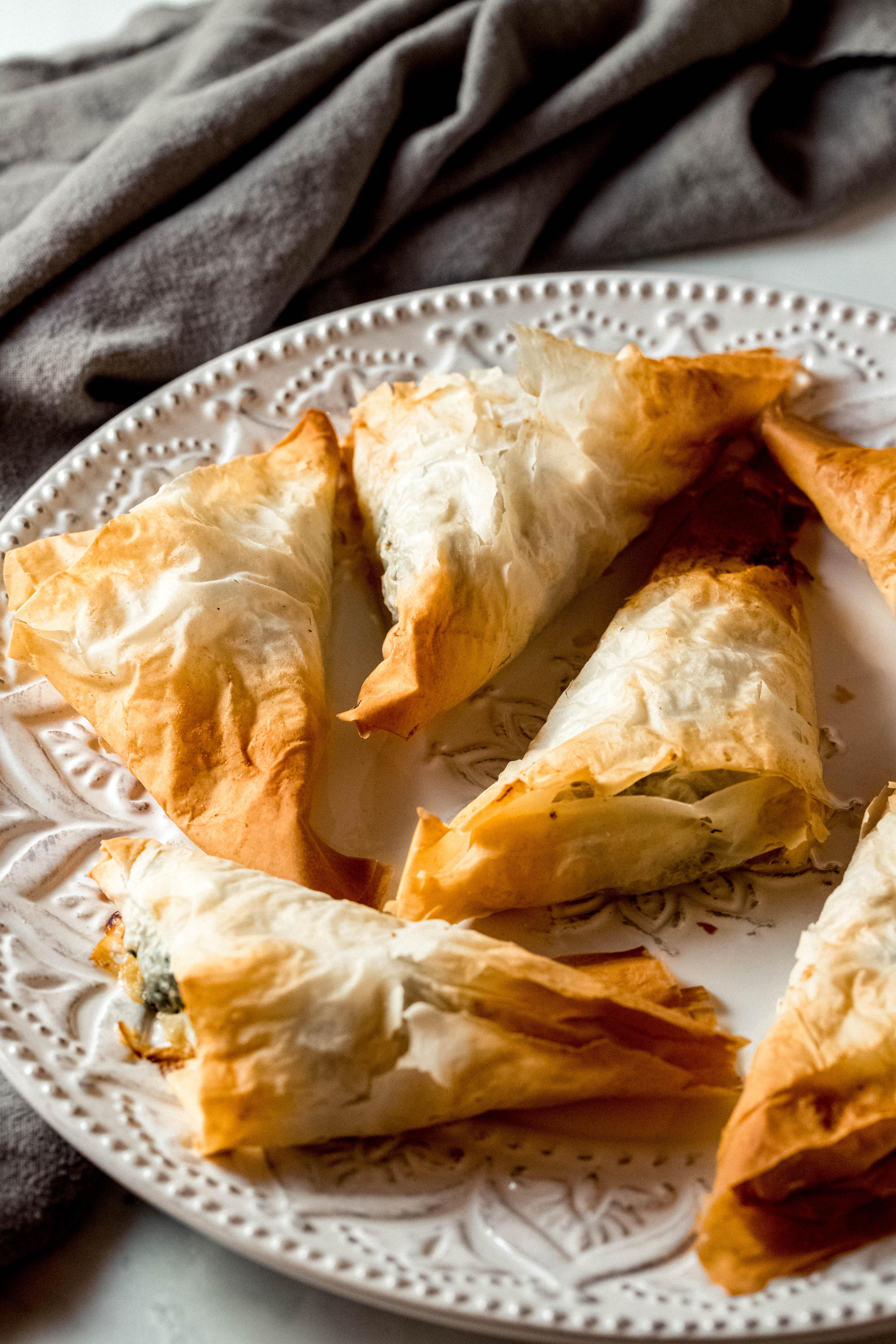 Sausage Spanakopita Triangles