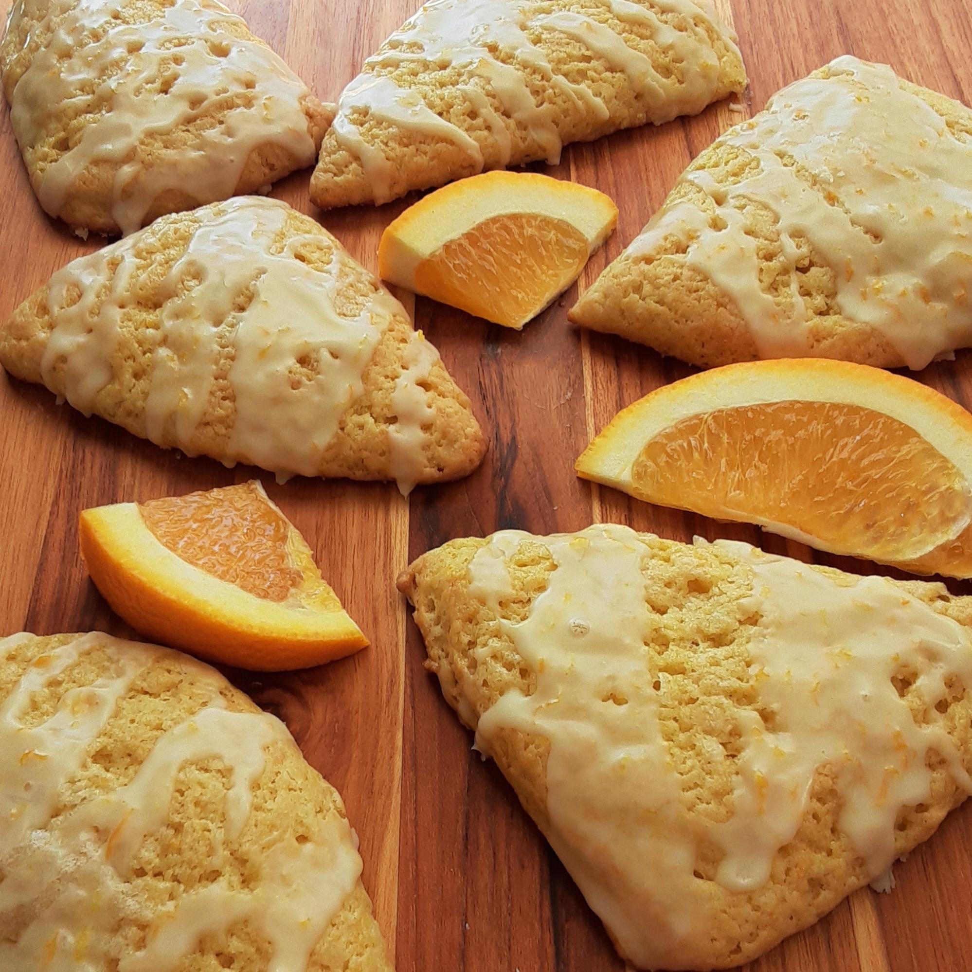 Orange Scones with Orange Glaze Deb C