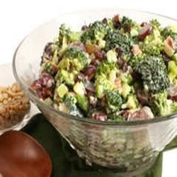 Bacon Broccoli Salad with Raisins and Sunflower Seeds Dawn