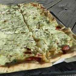 Sauerkraut on Bread Dough