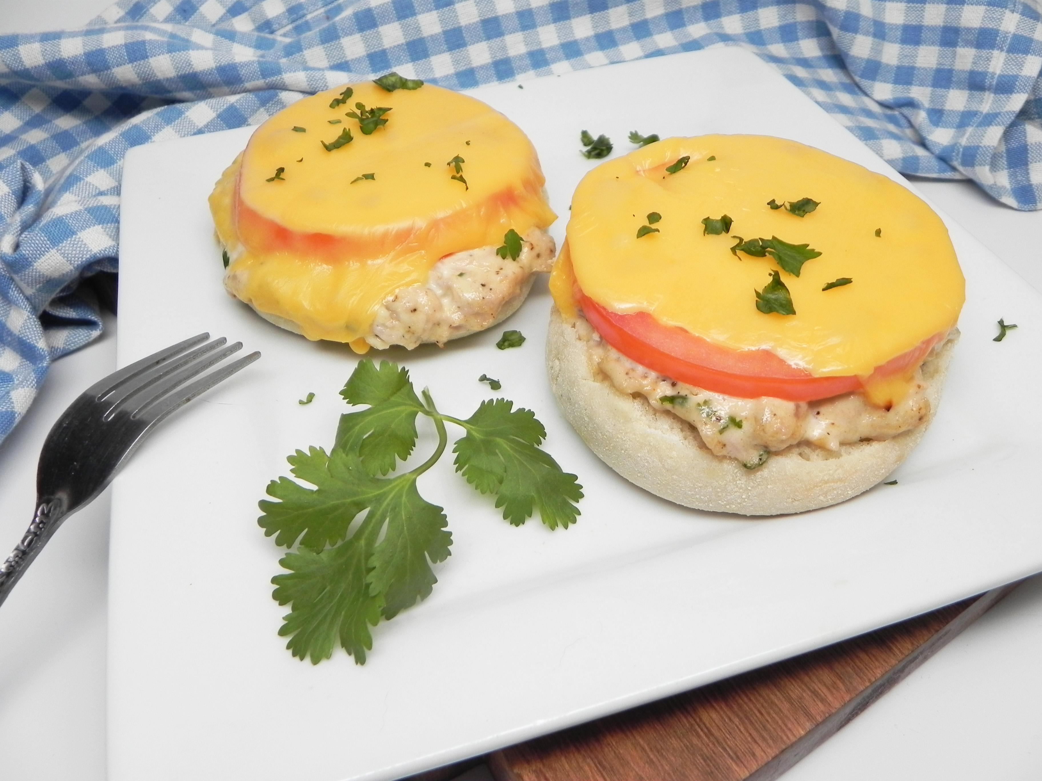 Tuna Melts on English Muffins
