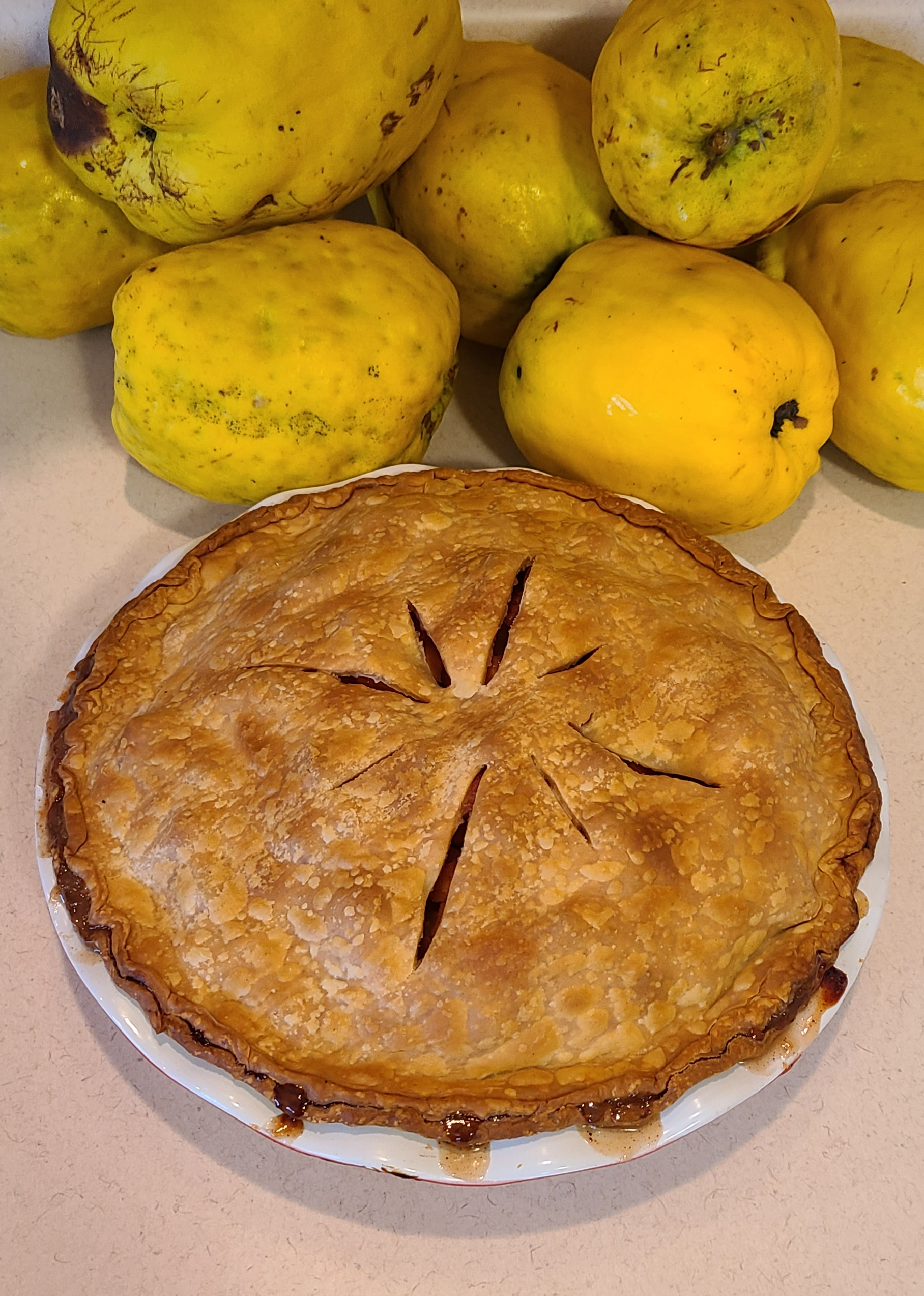 Honey-Poached Quince Pie