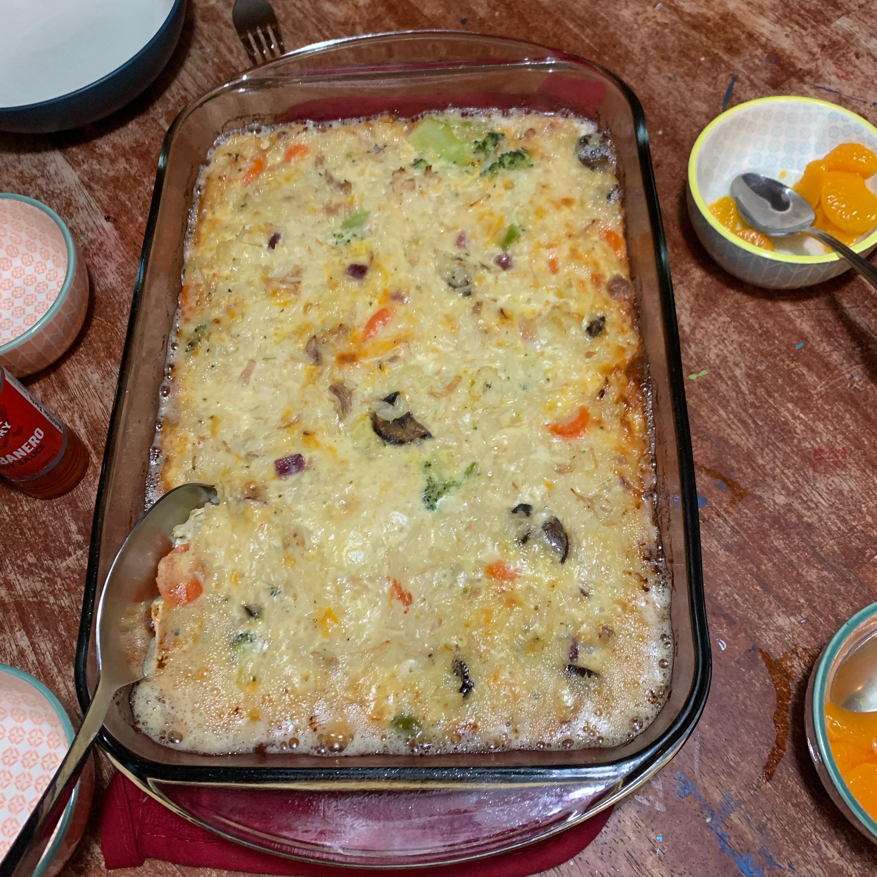 Cheesy Turkey Rice Casserole