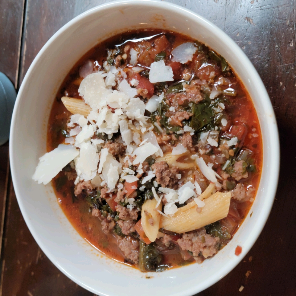 Lasagna Soup with Cheesy Yum