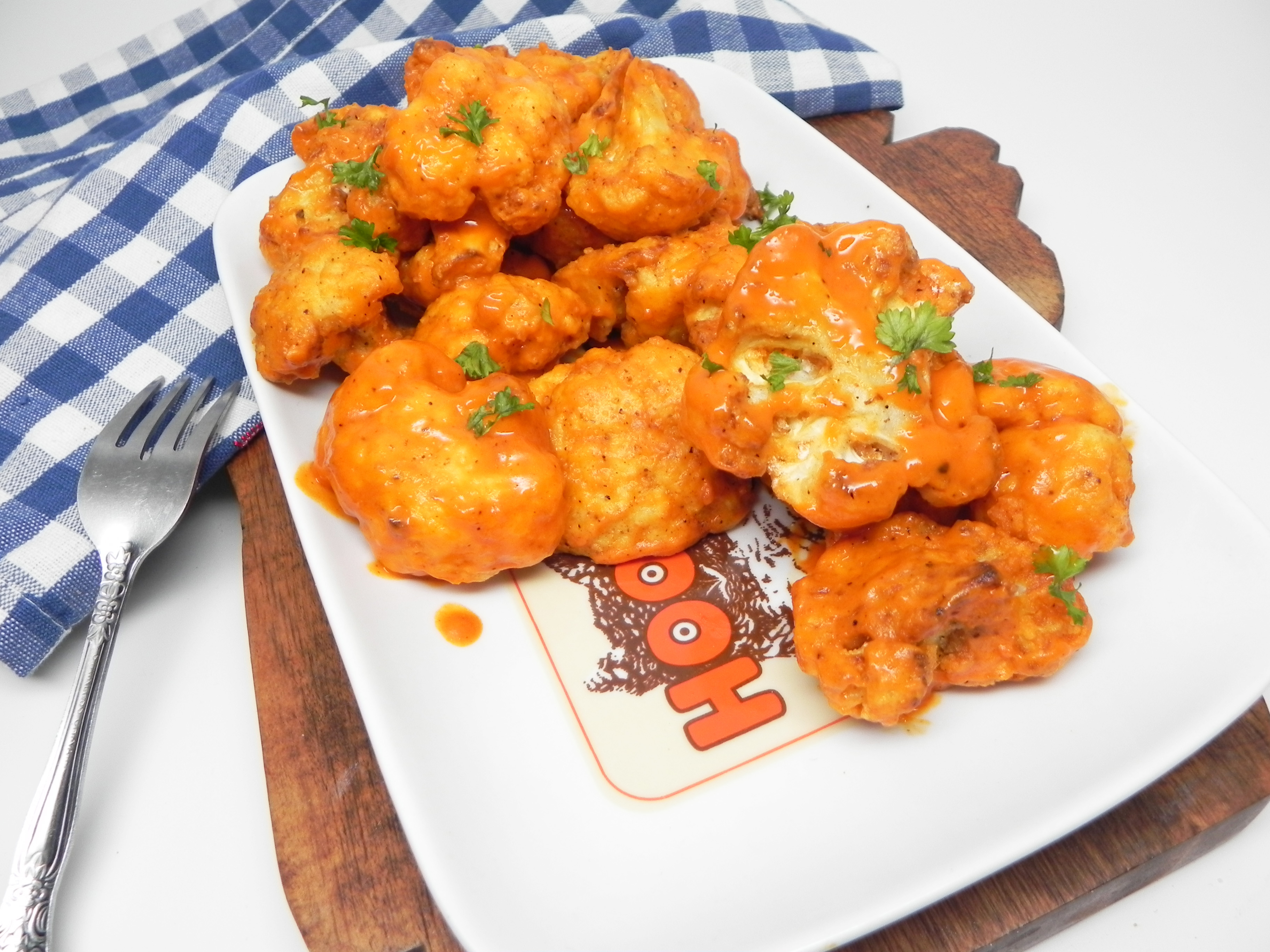Air Fryer Vegan Buffalo Cauliflower