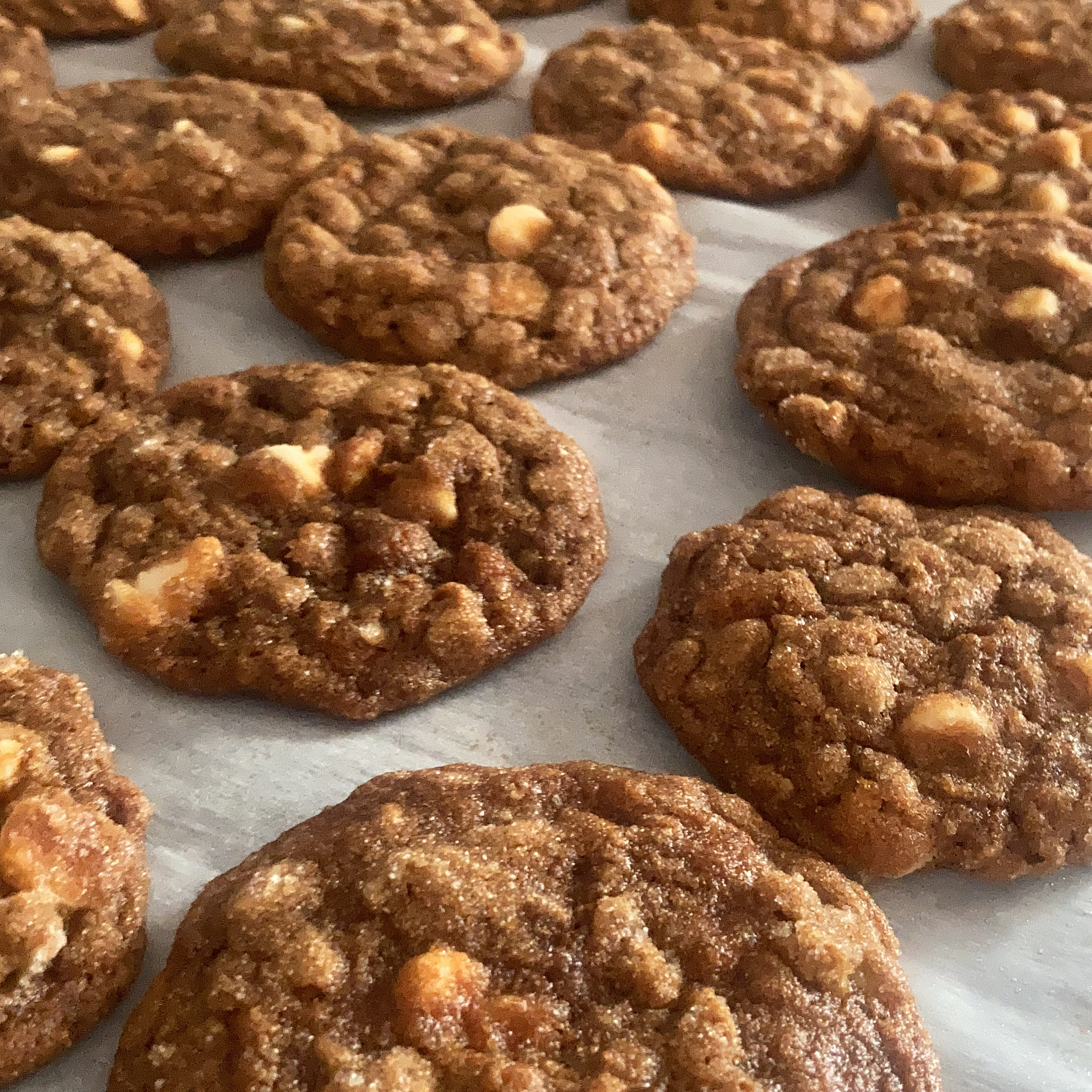 Molasses Oatmeal White Chocolate Chip Cookies The Cookie Girl
