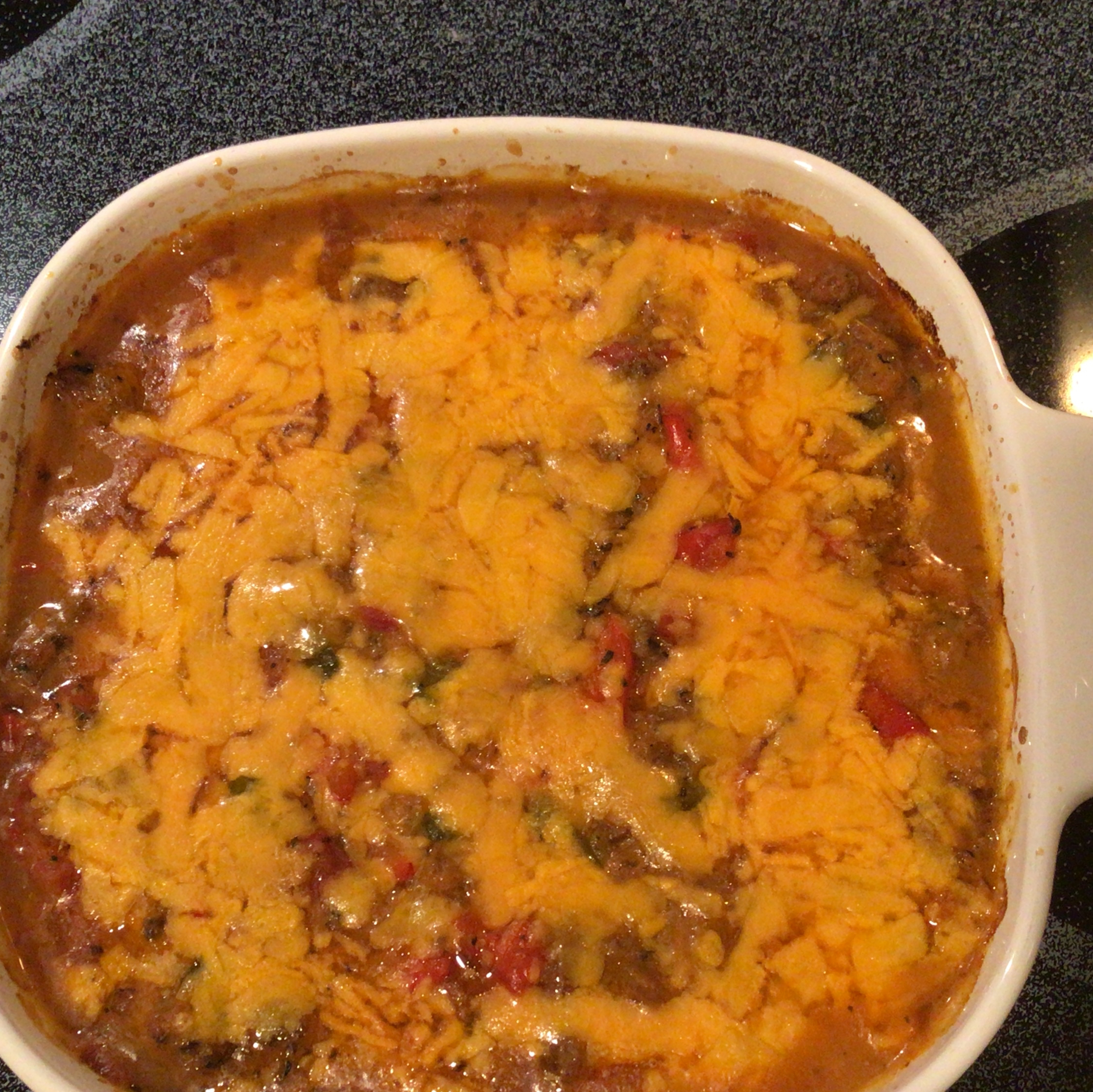 Baked Spaghetti Squash with Beef and Veggies claire77