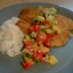 Caribbean Fish With Mango Salsa