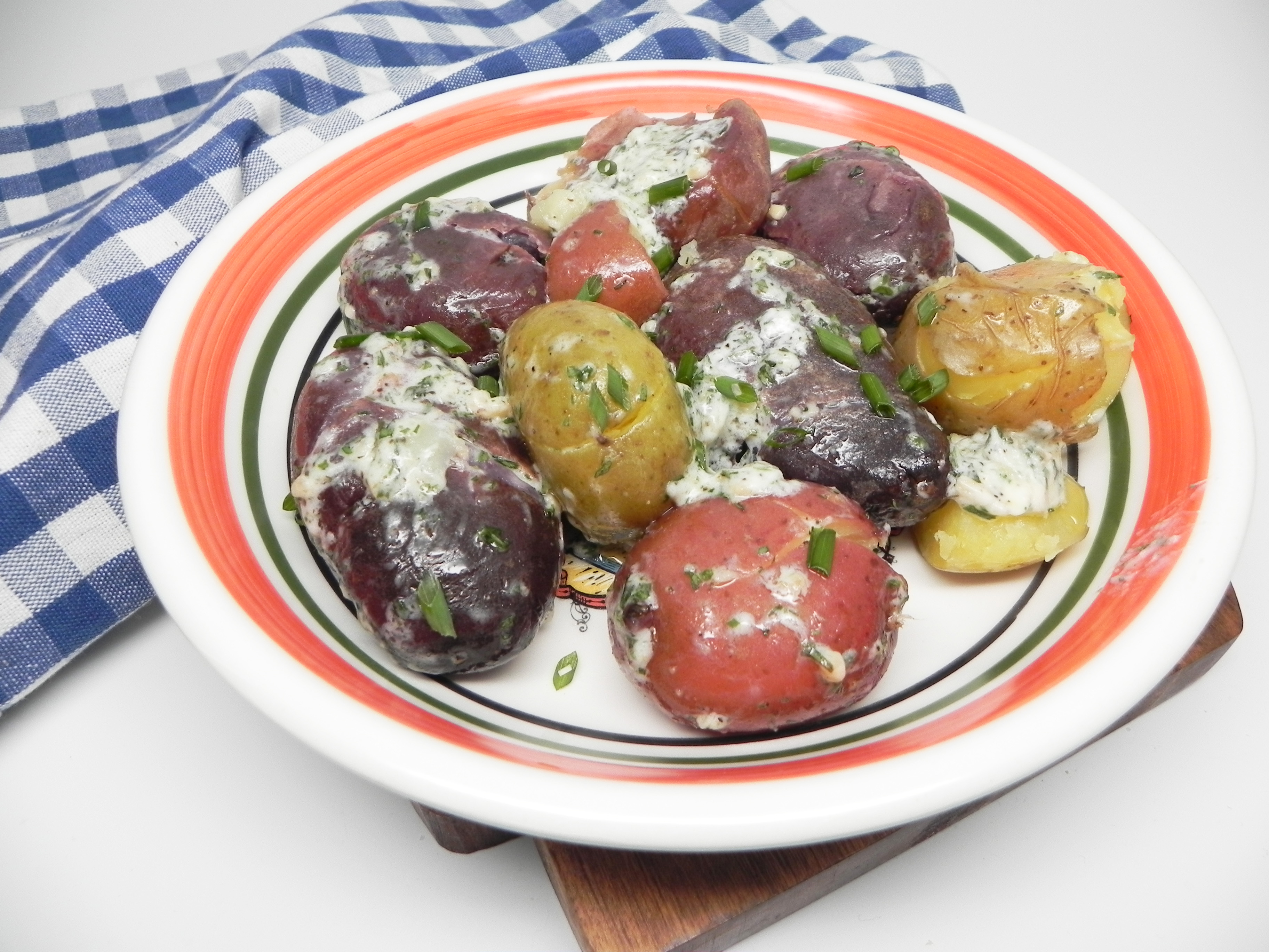 Fingerling Potatoes with Tarragon Chive Butter