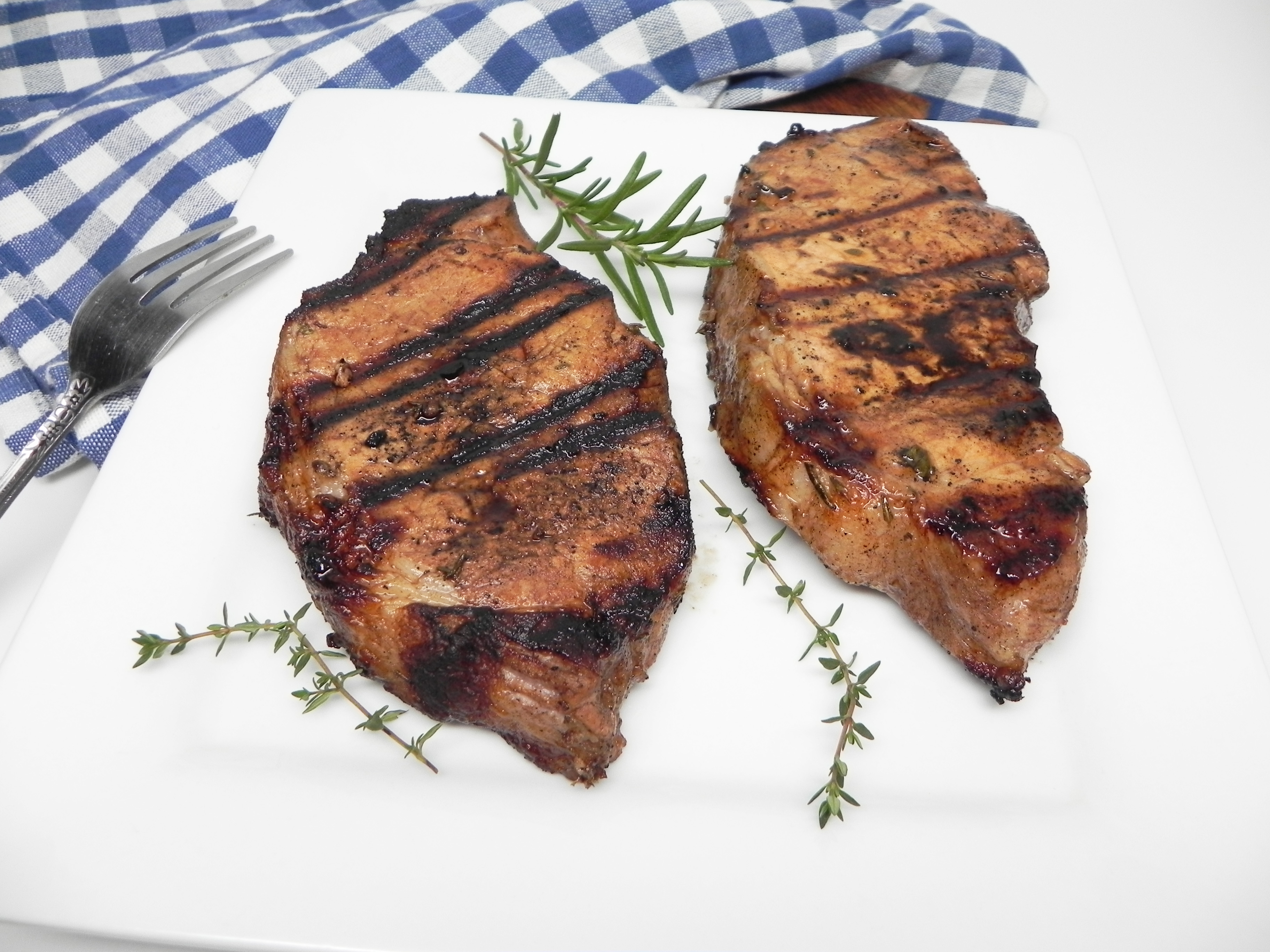 Grilled Pork Chops with Fresh Herbs