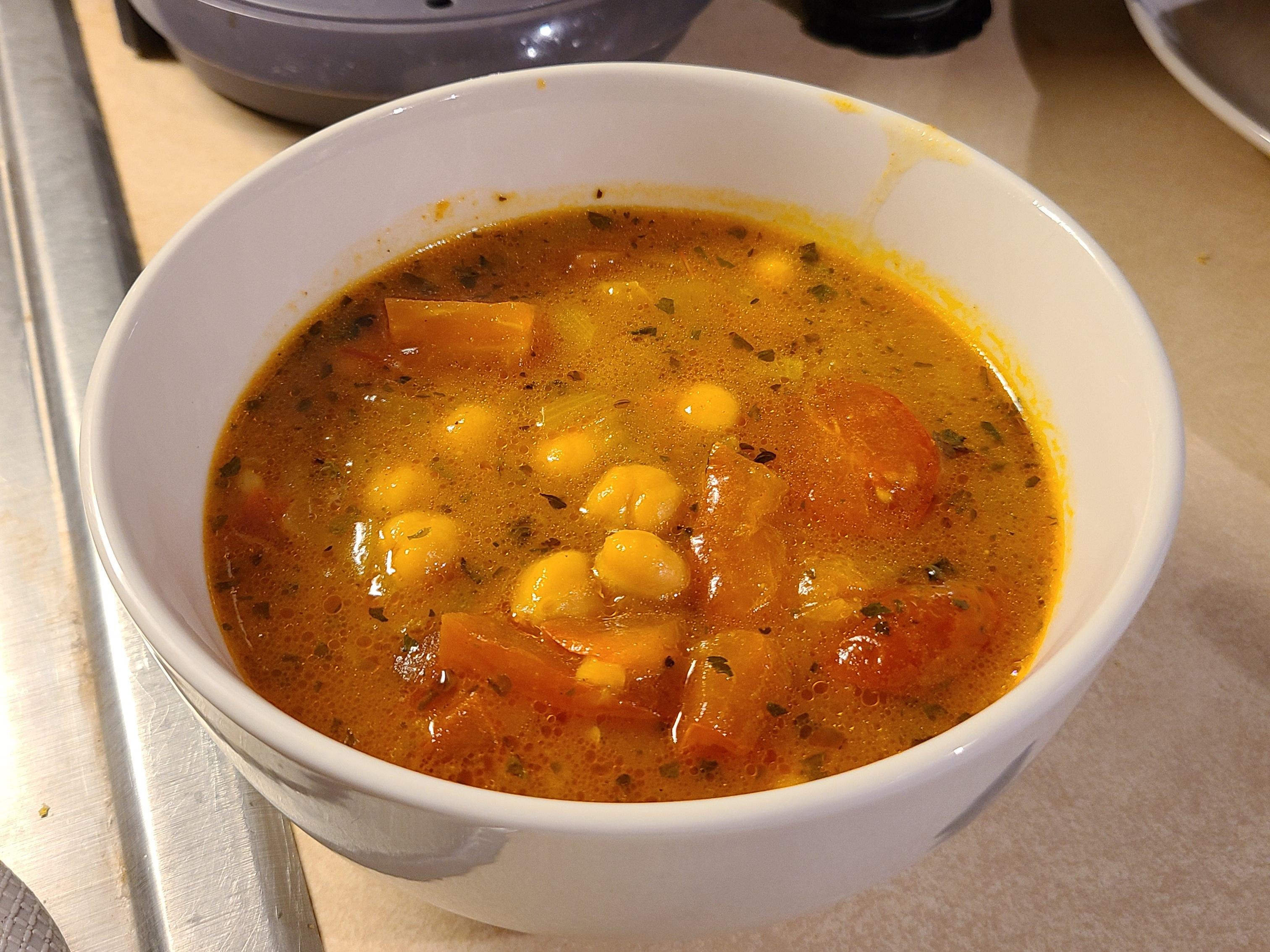Vegetarian Moroccan Harira Elizabeth Sonnedecker`