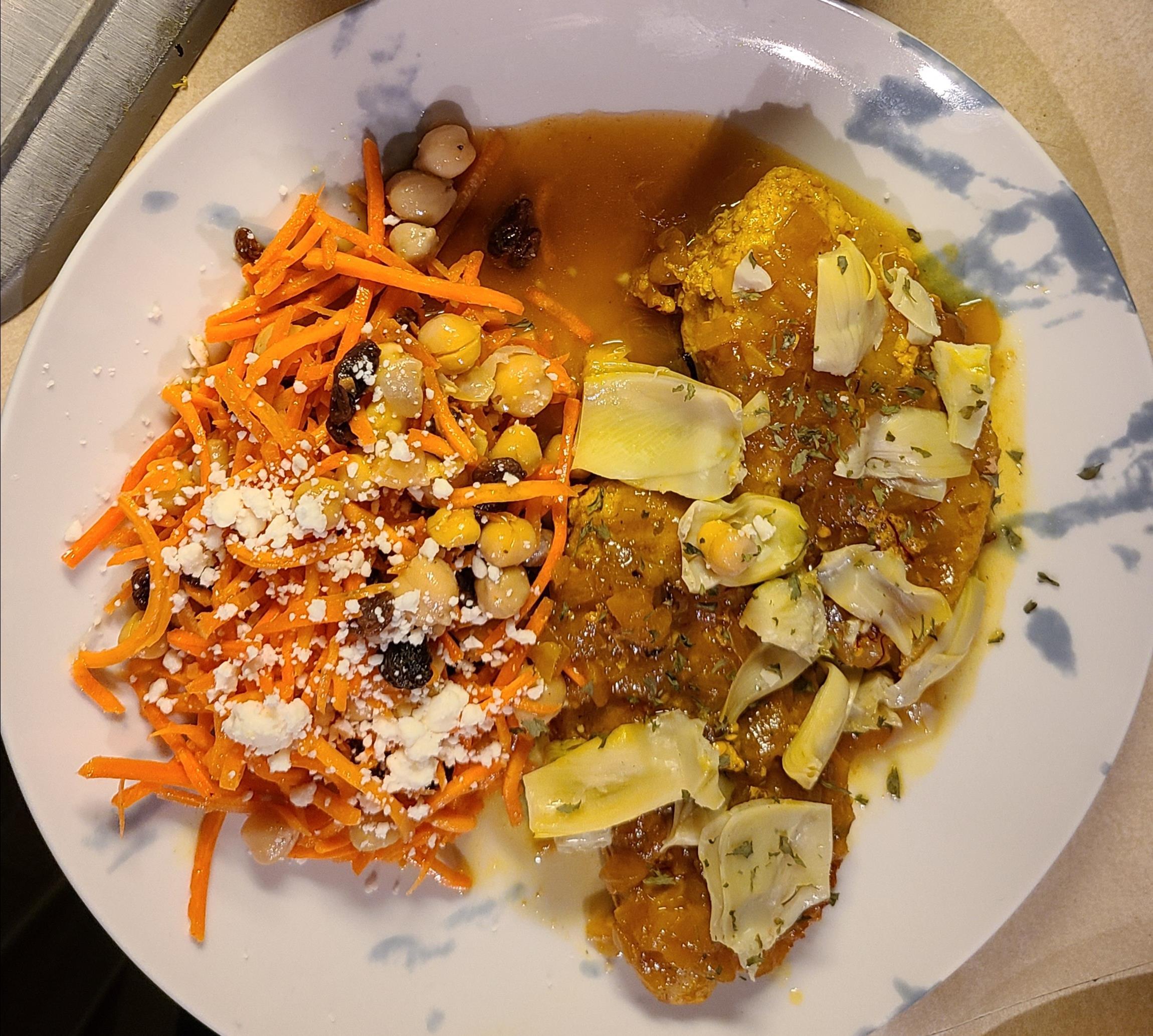Moroccan Chicken with Saffron and Preserved Lemon Elizabeth Sonnedecker`