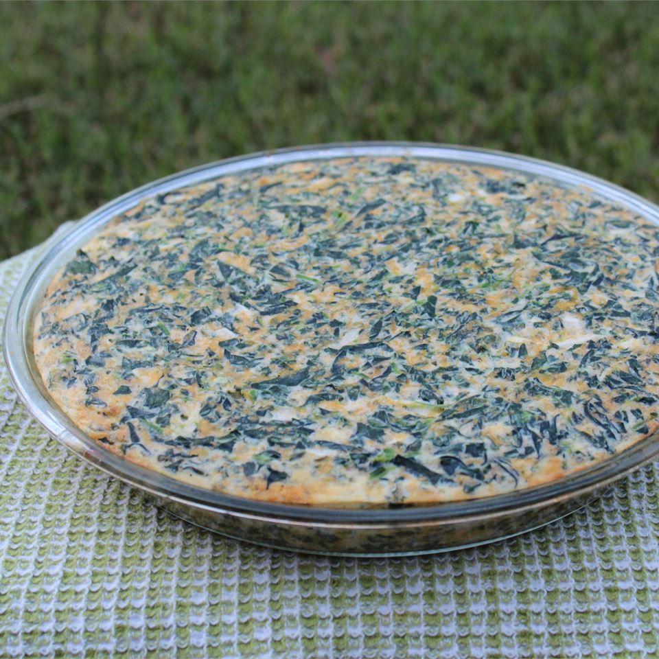 Crustless Spinach Quiche Paula