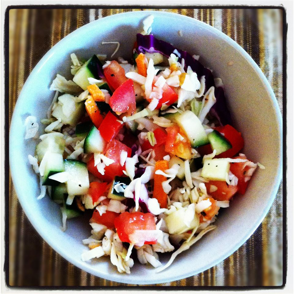 Quick and Tart Cabbage Side Salad Jessica Diaz