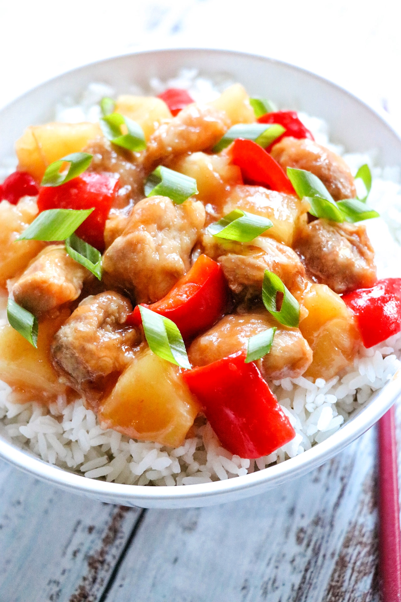Slow Cooker Sweet and Sour Chicken Thighs