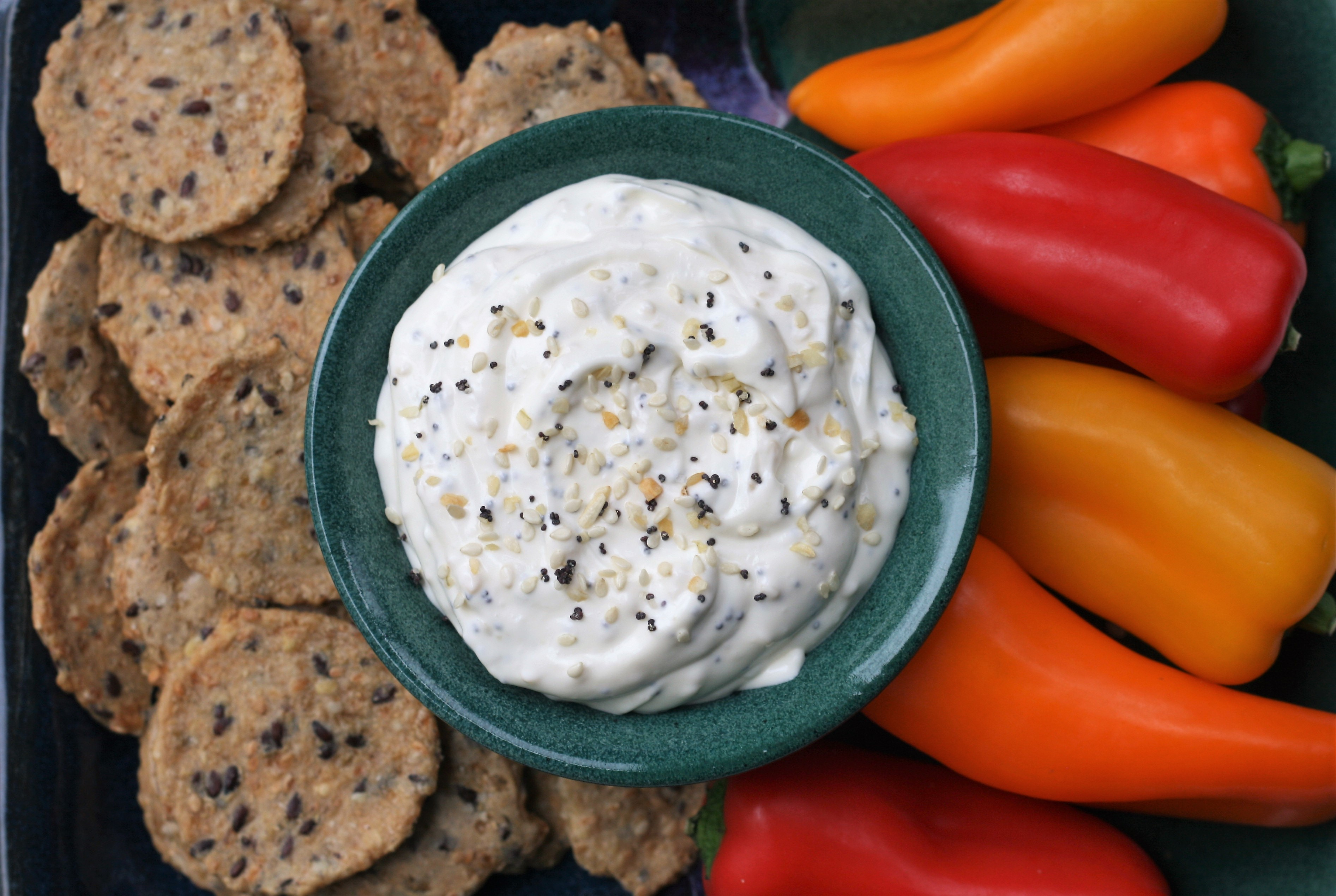 """""""If you're a fan of 'everything but the bagel' seasoning, you'll love this low-carb dip made with only 4 ingredients,"""" says France C. """"Bagel seasoning can be found at most major retailers or you can easily make your own using one of the many recipes available online. Serve with bagel chips or your favorite crackers."""""""