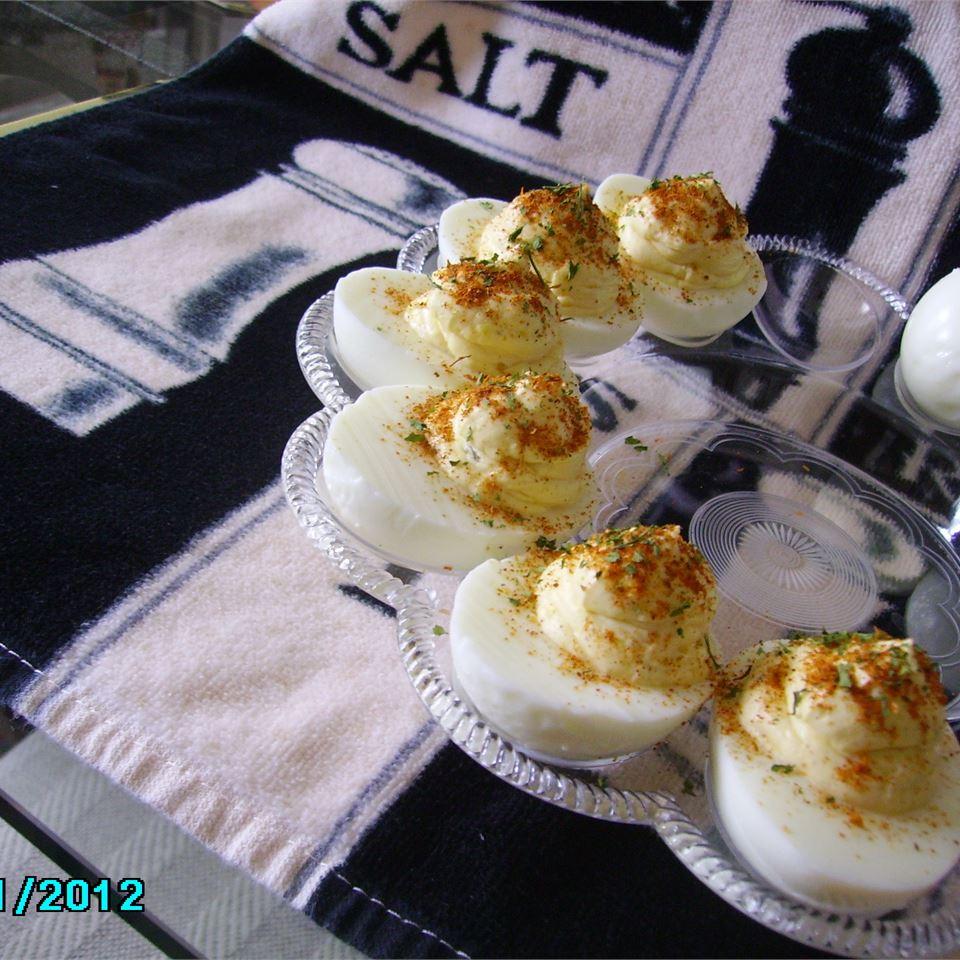 Creamy Cajun Deviled Eggs Christina
