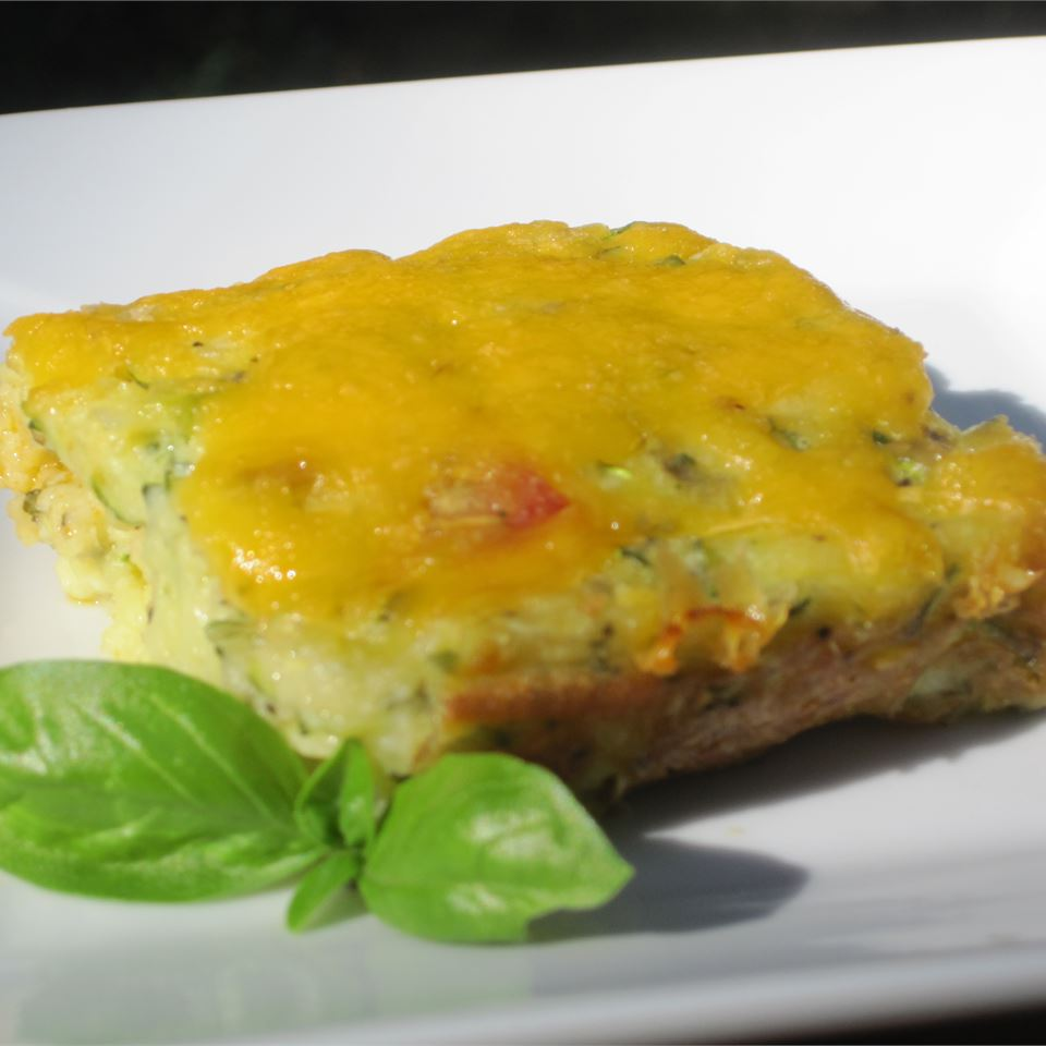 Baked Zucchini Squares