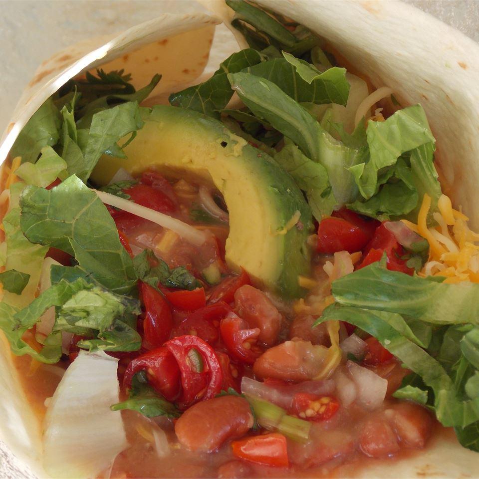 Vegetarian Bean Burritos Megan