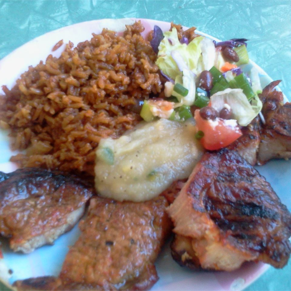 Mesquite Grilled Pork Chops with Apple Salsa