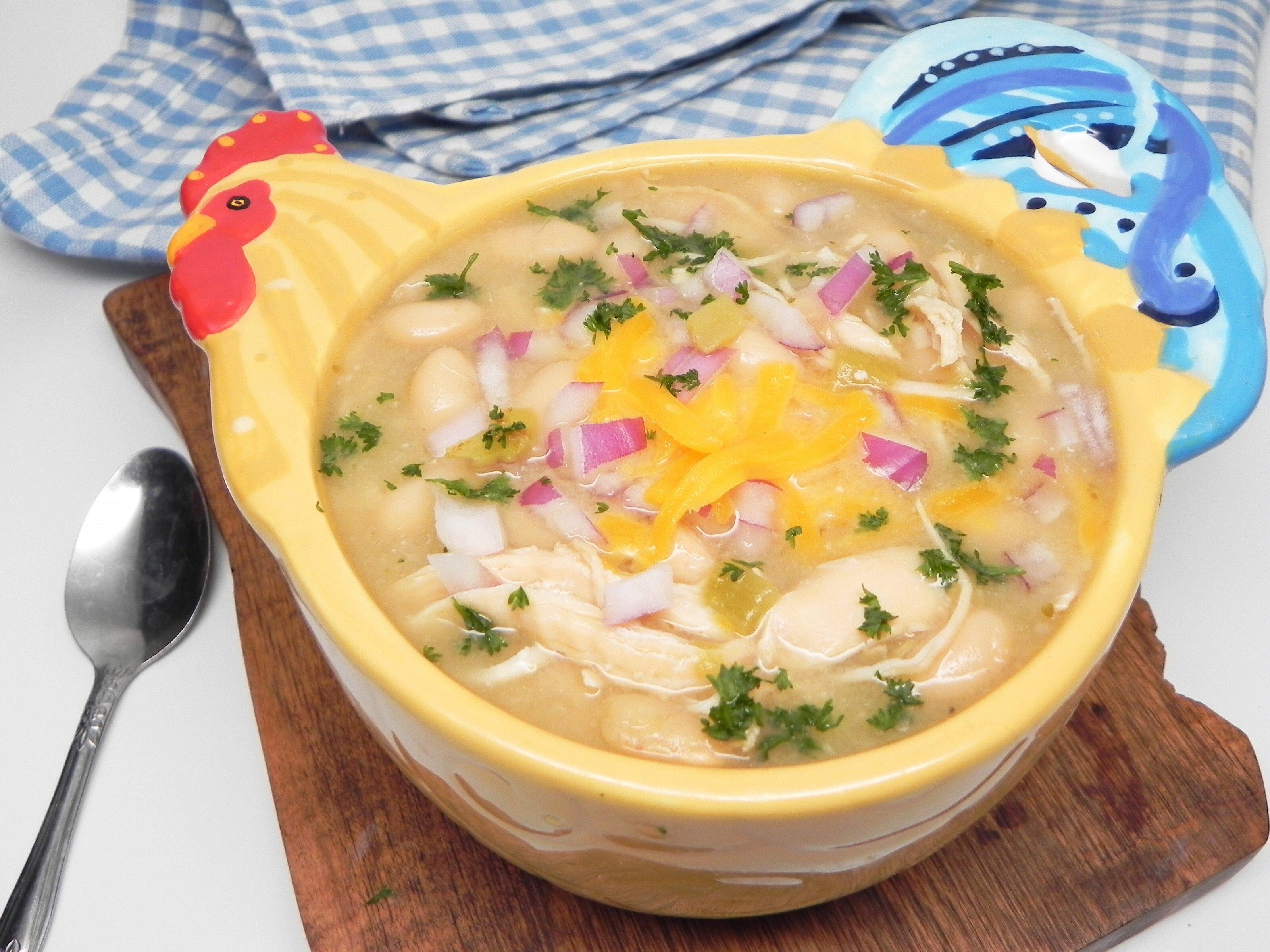 Slow Cooker Shredded Chicken Chili Allrecipes