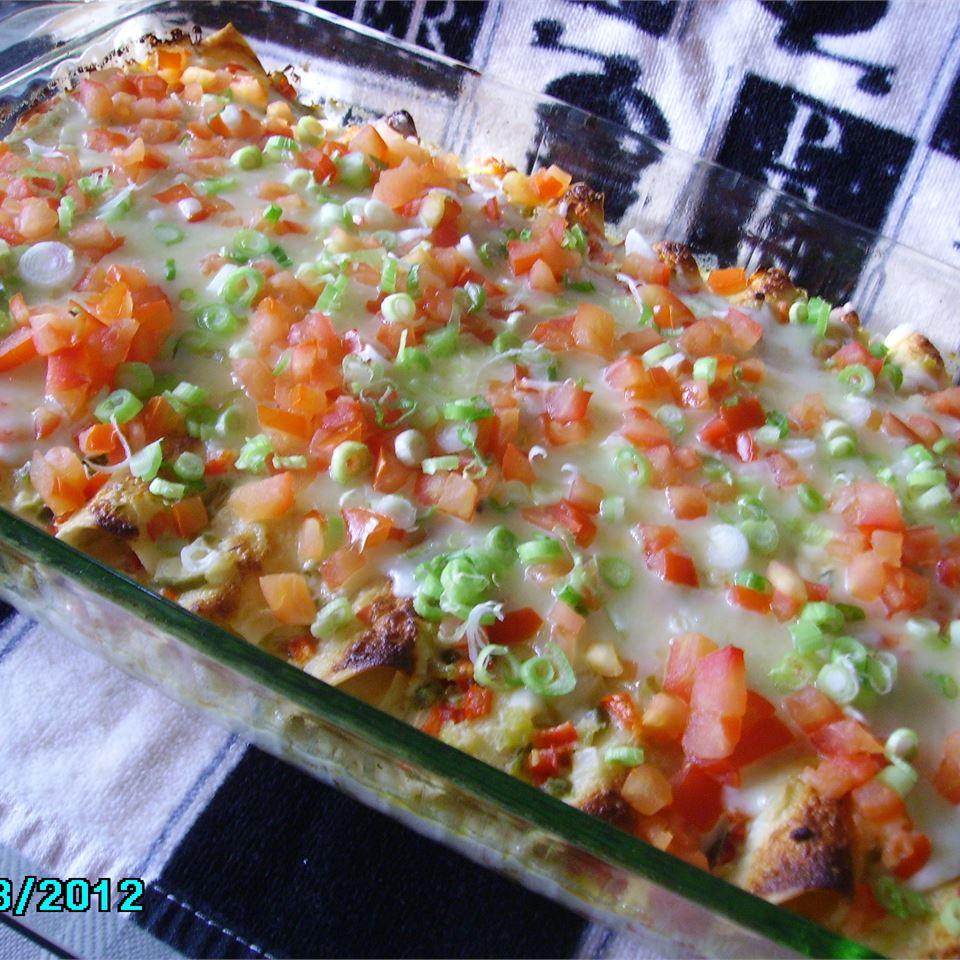 Seafood Enchiladas con Queso Christina