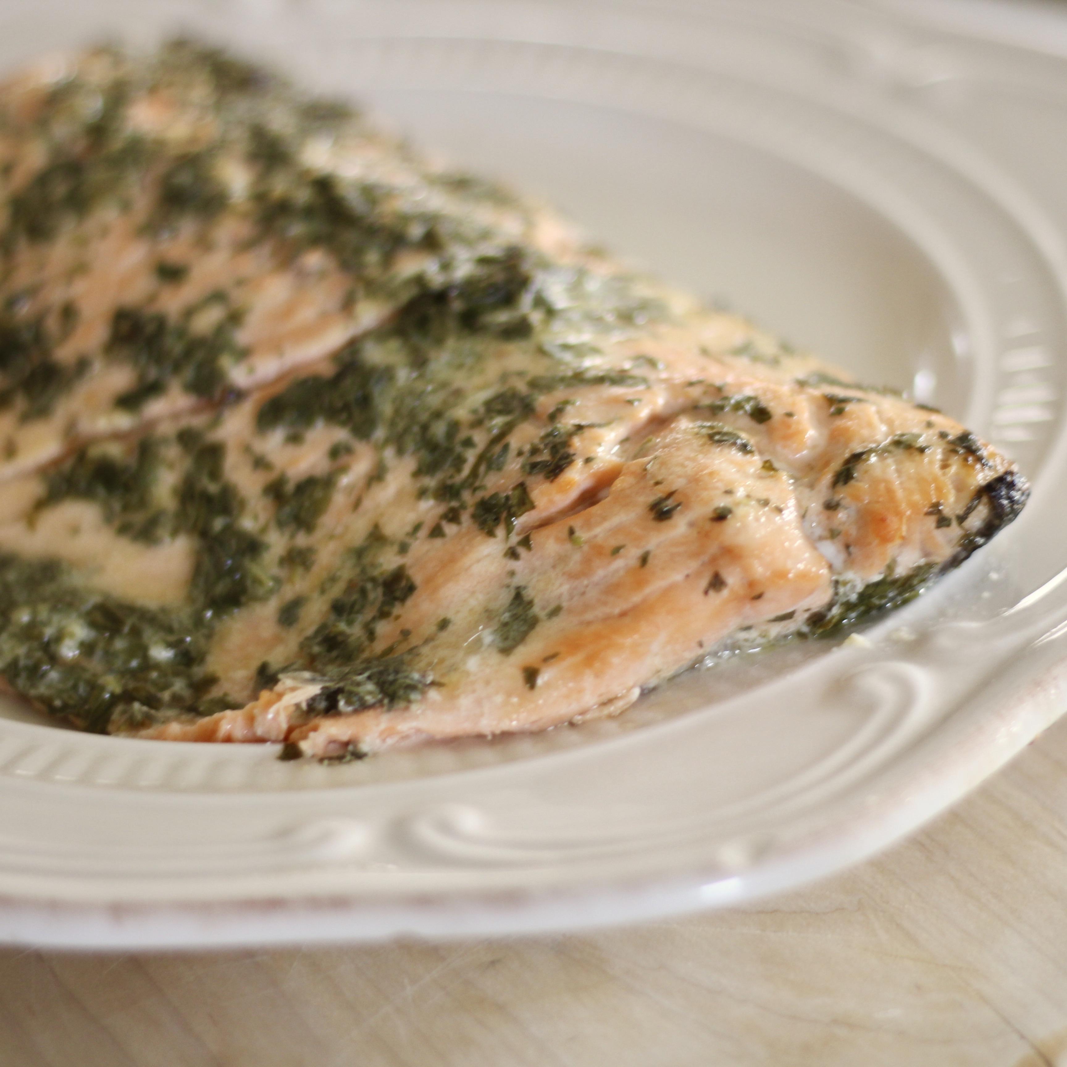 Broiled Garlic-Herb Salmon