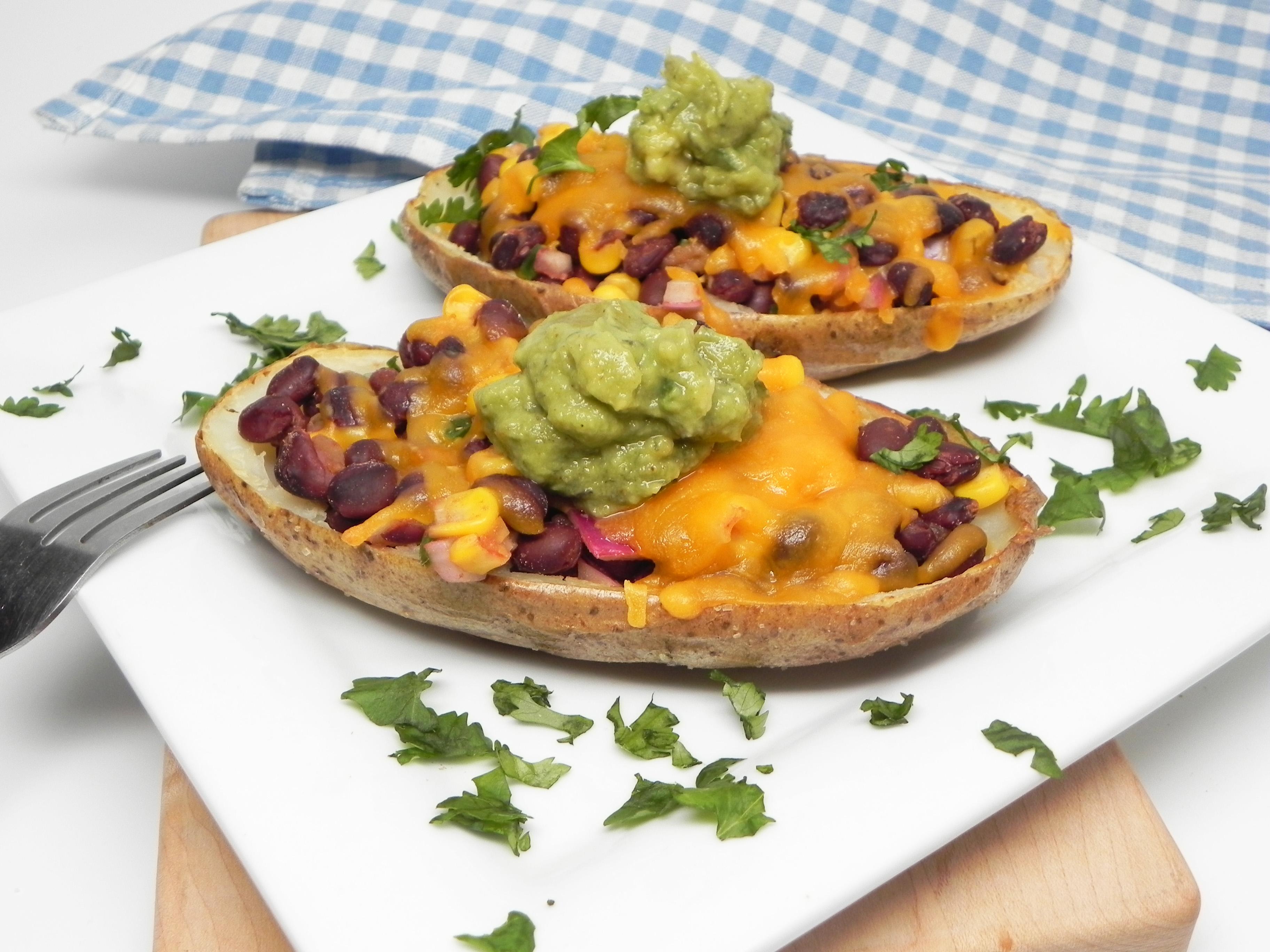 Vegetarian Southwestern Potato Skins