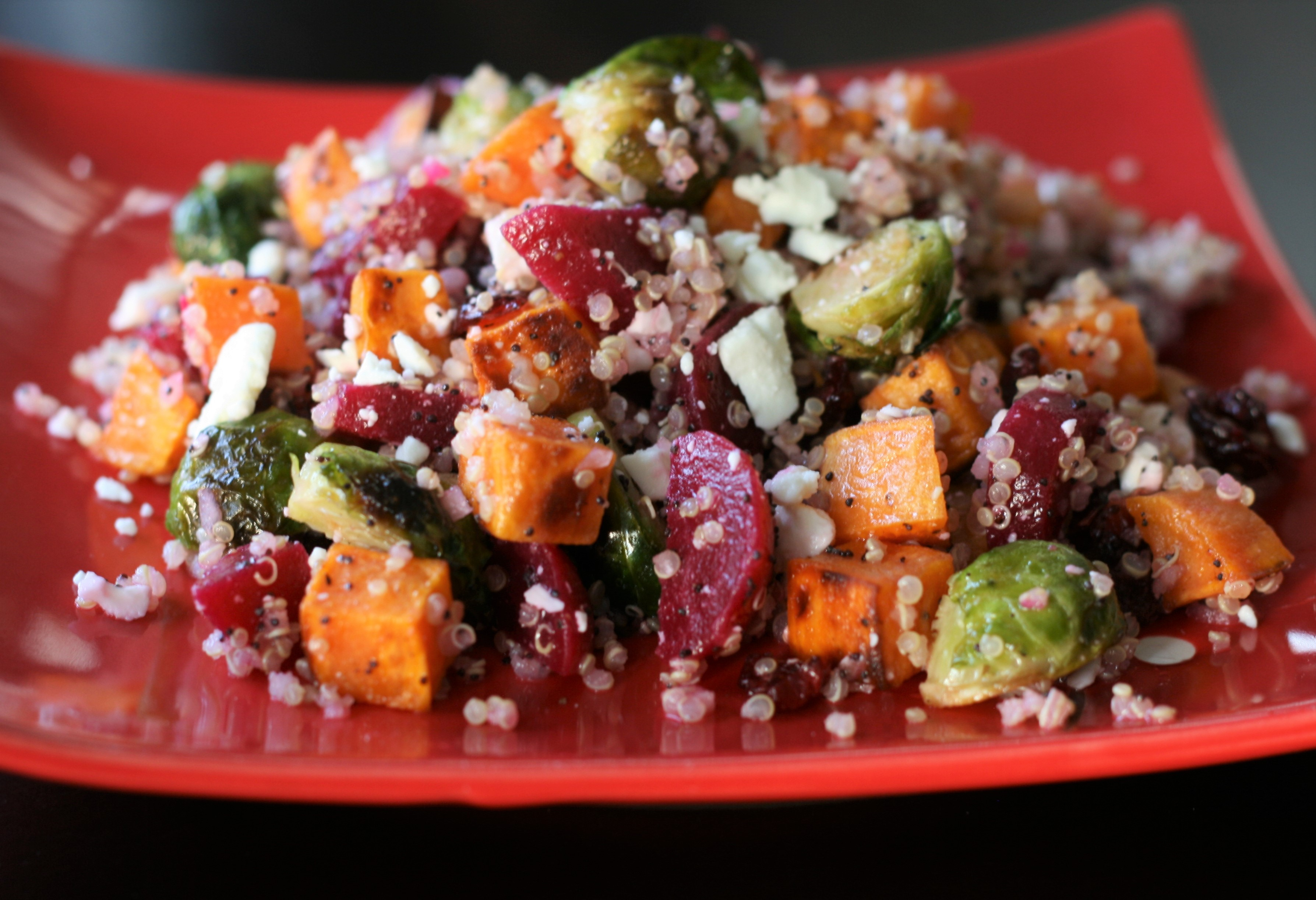 Fall Quinoa Salad with Poppy Seed Dressing