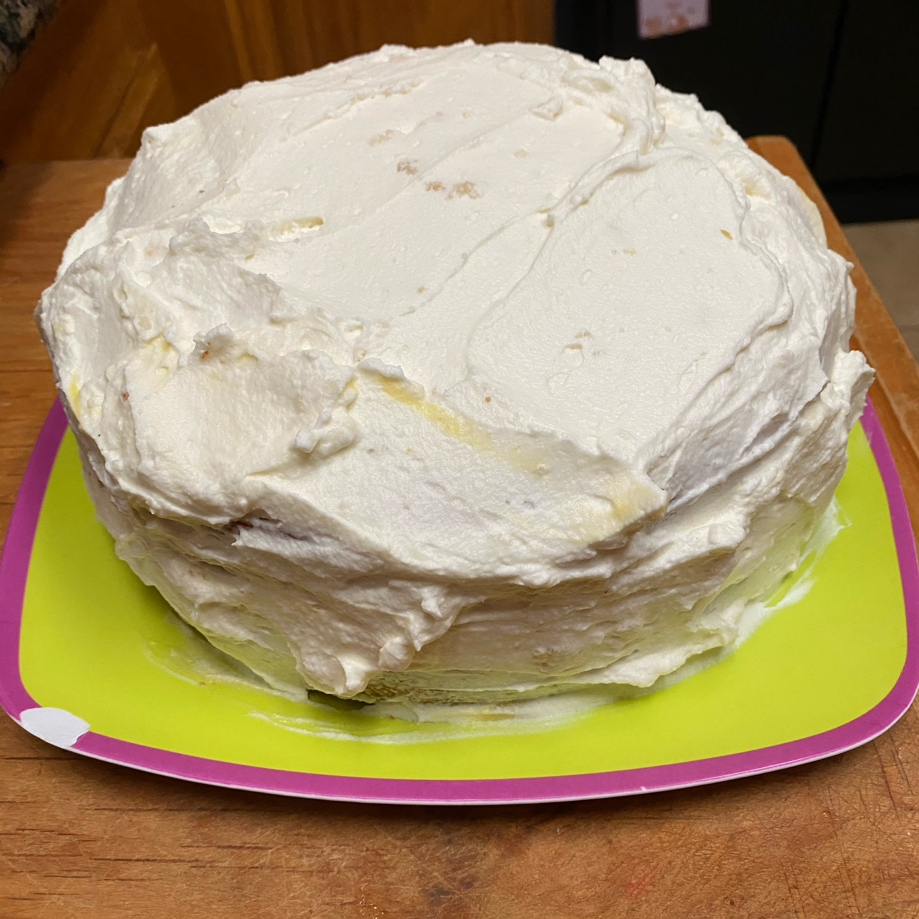 Eggnog Layer Cake Amy