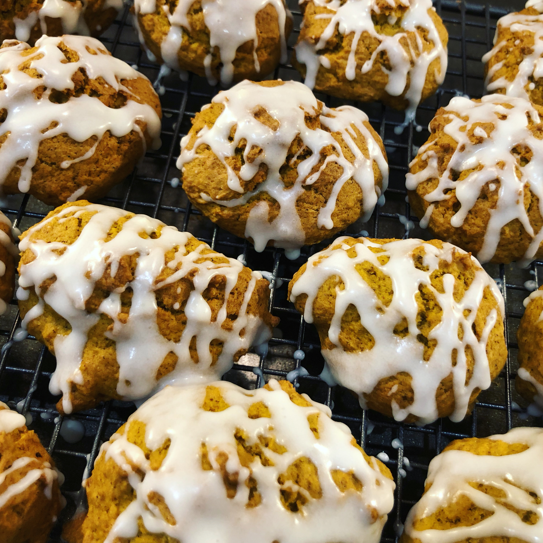 Iced Pumpkin Cookies Charity Kuczynski