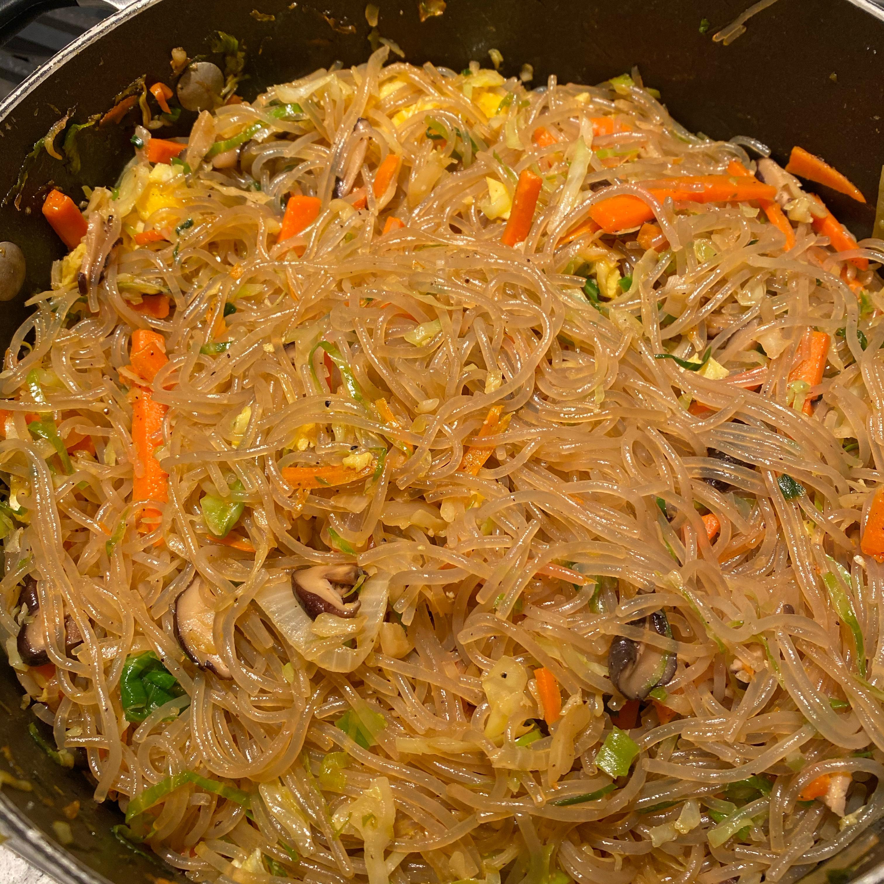 Jap Chae Korean Glass Noodles Love2Cook