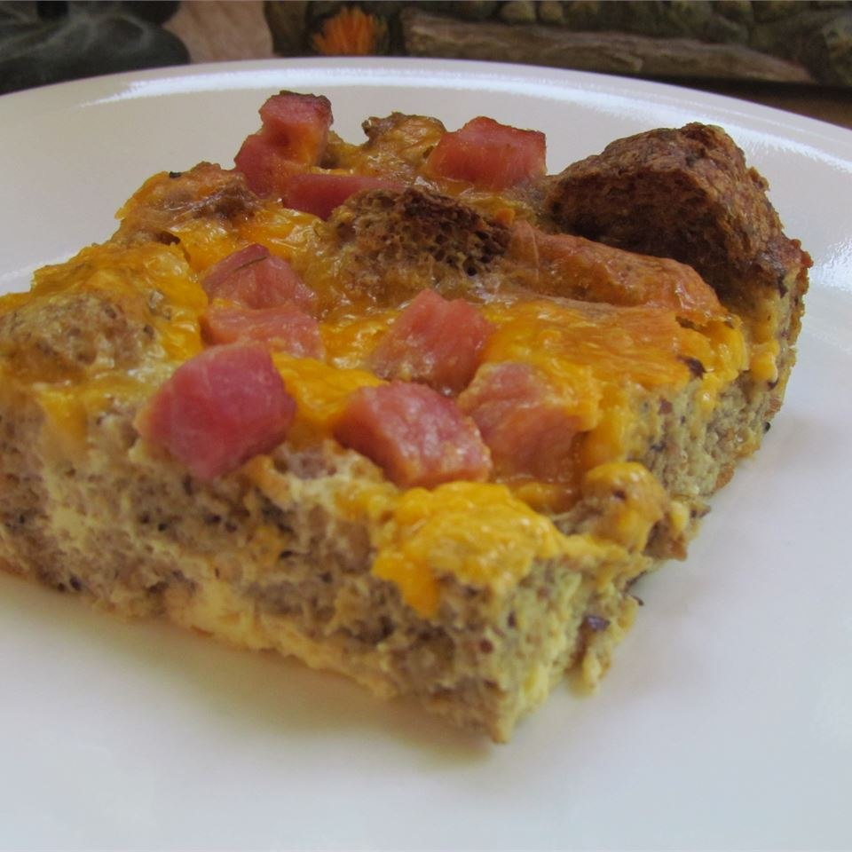 Overnight Ham and Cheese Omelet