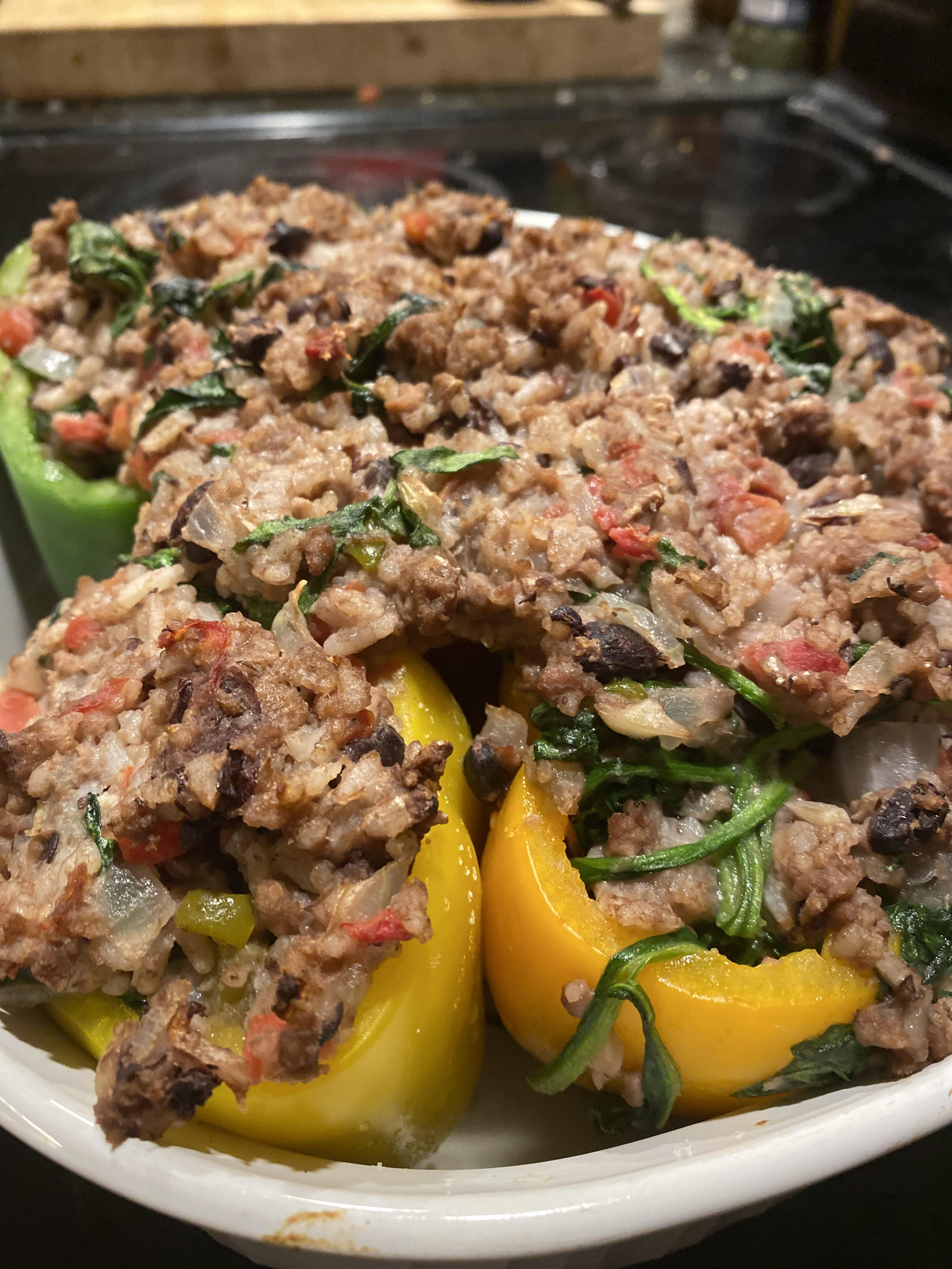 Impossible™ Stuffed Peppers Jamie Justice Yost