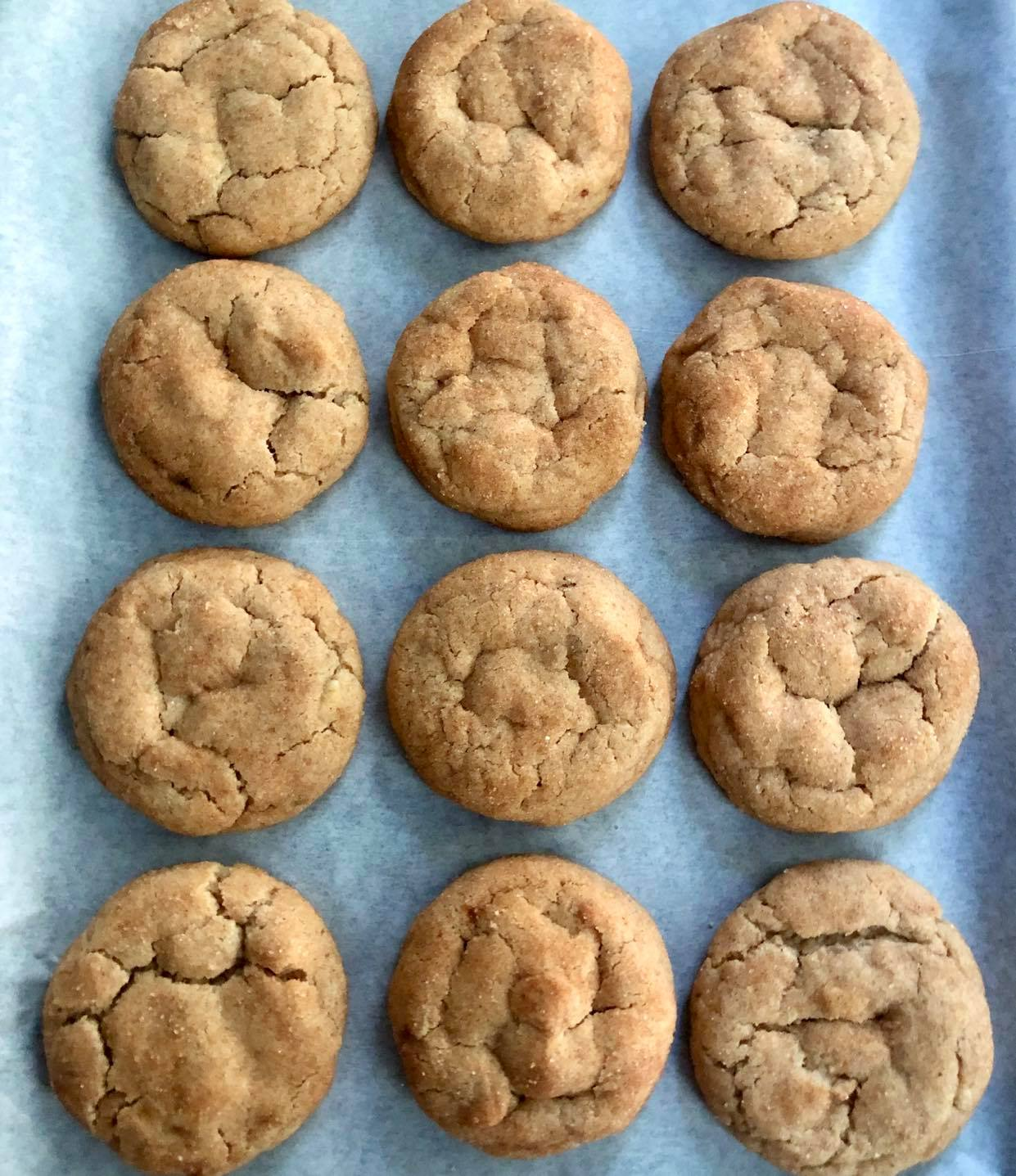 Brown Butter Snickerdoodles with White Chocolate