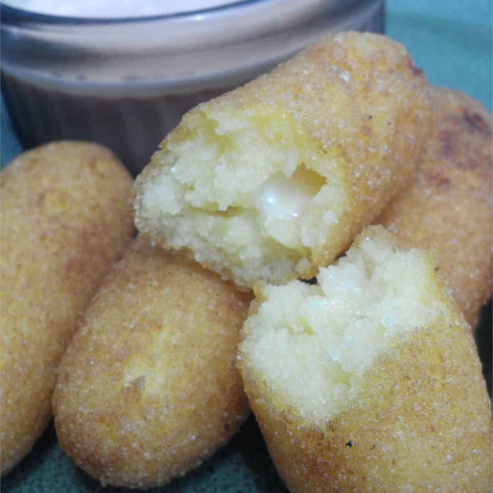 Deep Fried Corn Meal Sticks (Sorullitos de Maiz) with Dipping Sauce