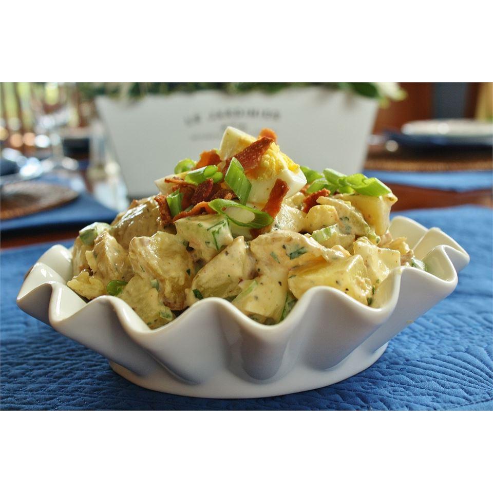 English Pub Potato Salad With Cucumber and Bacon naples34102