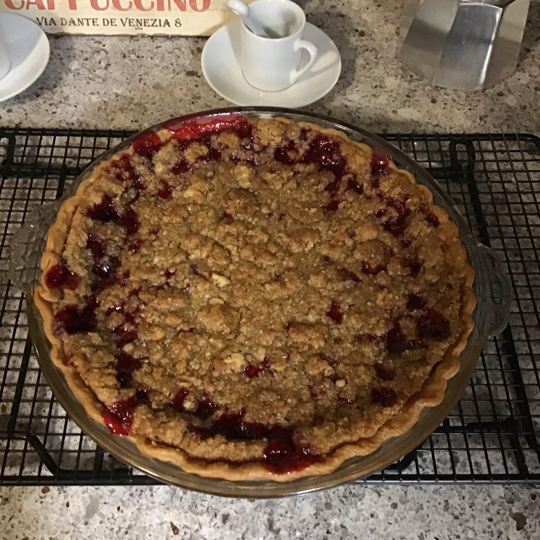 Cranberry Streusel Pie