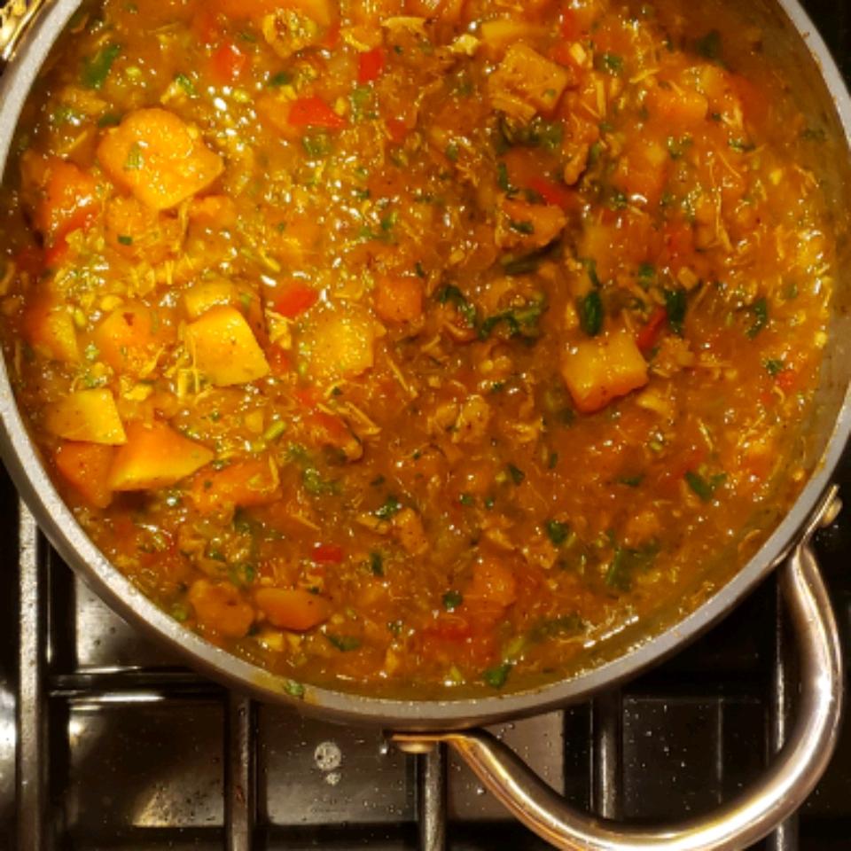 Red Curry Chicken and Pumpkin Soup rplummer