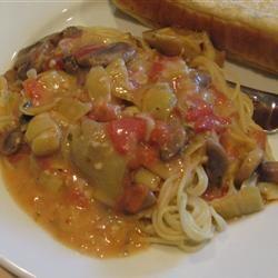 Tomato Alfredo Sauce with Artichokes sanzoe