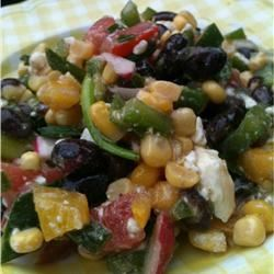 Black Bean, Corn, and Tomato Salad with Feta Cheese Jamie Justice Yost