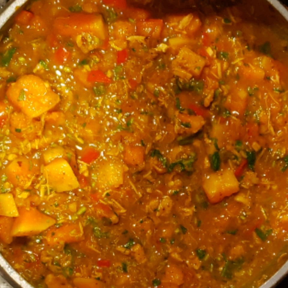 Red Curry Chicken and Pumpkin Soup