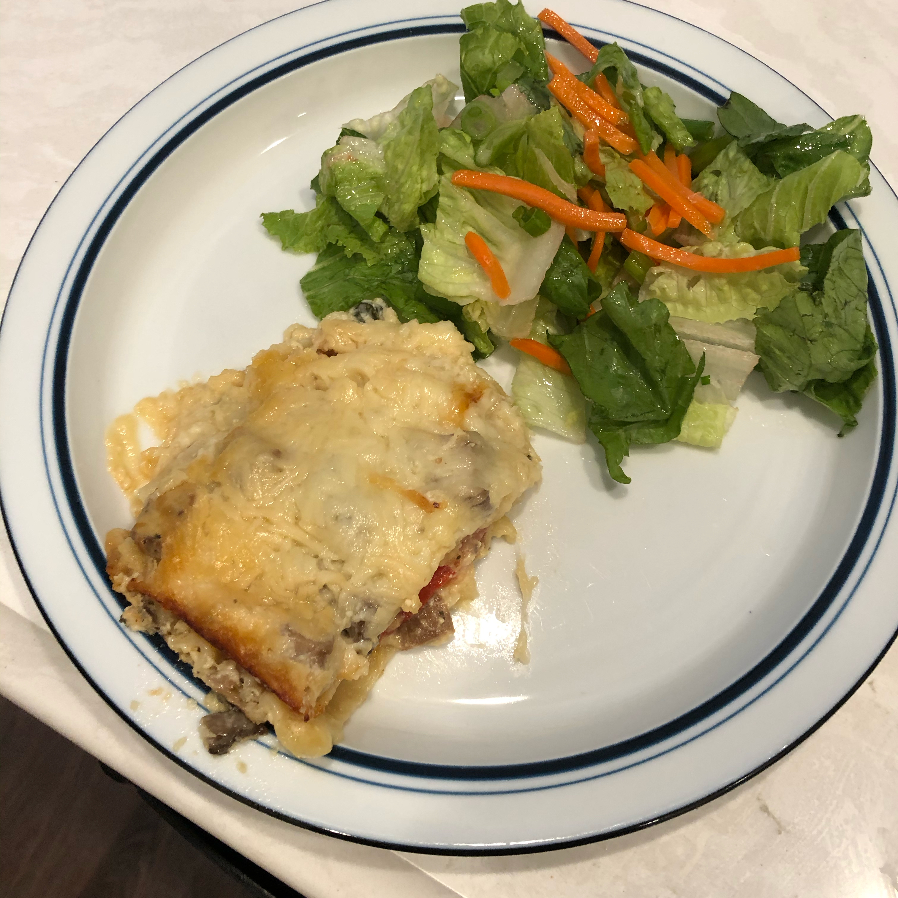 Spinach Lasagna II carrot cake