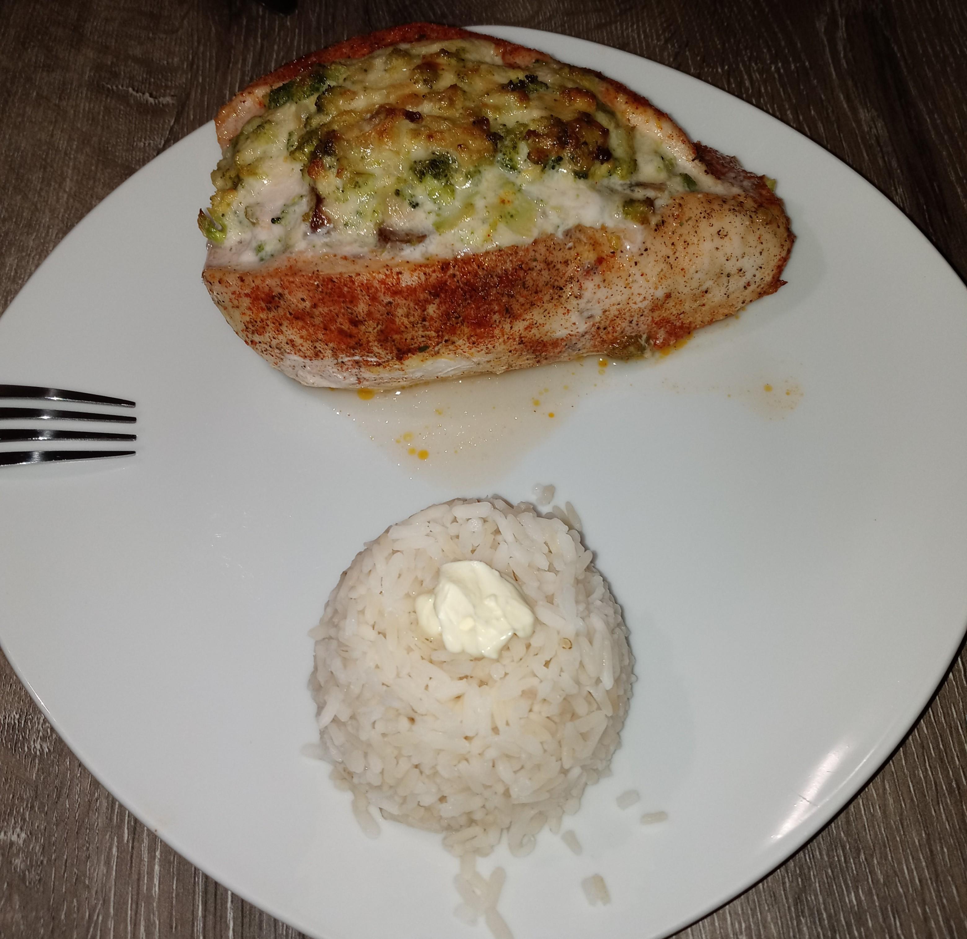 Mushroom, Broccoli, and Cheese Stuffed Chicken Will B