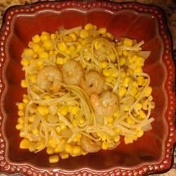 Linguine with Cajun-Spiced Shrimp and Corn Deeli
